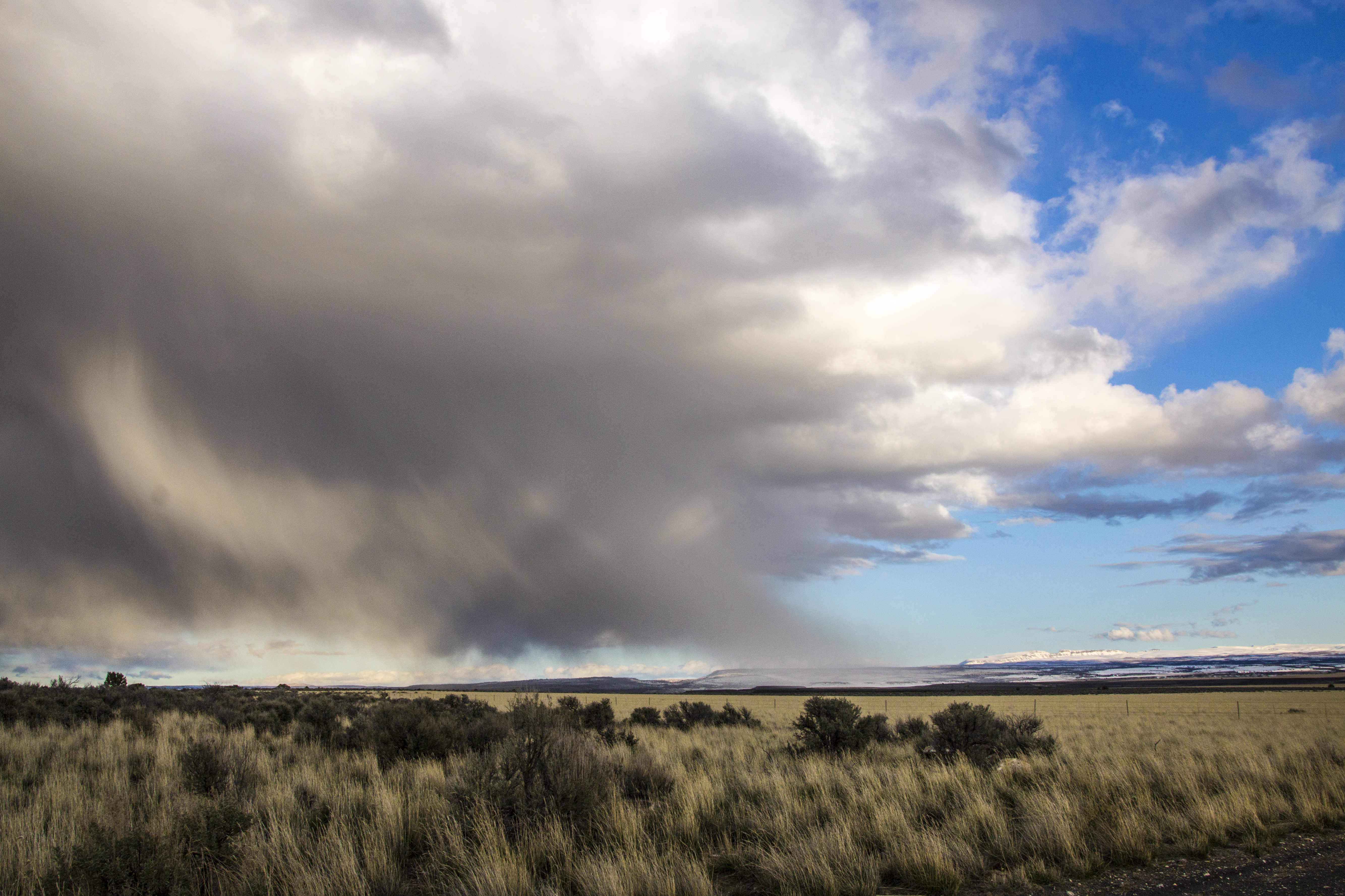Storm clouds in eastern oregon photo