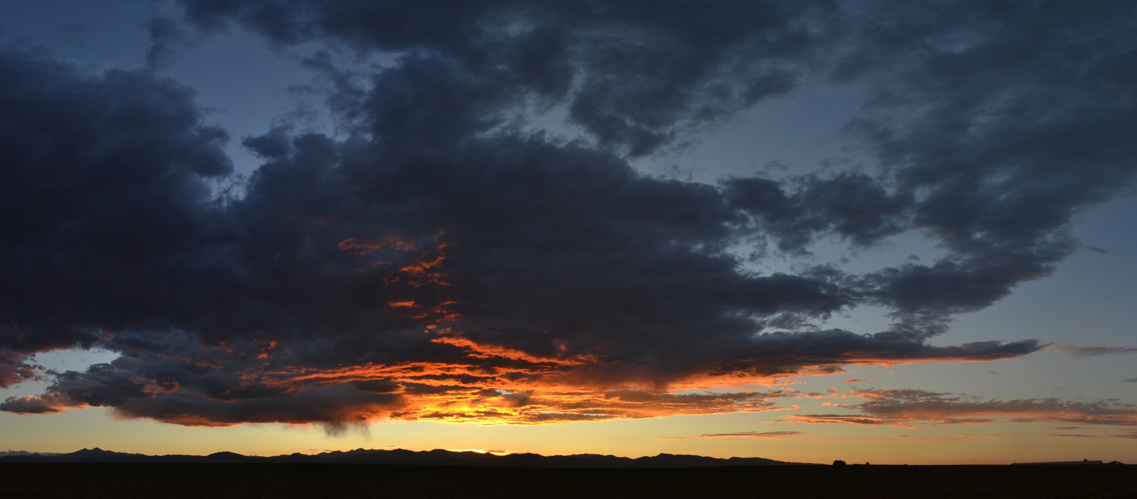 Stormy sunset photo