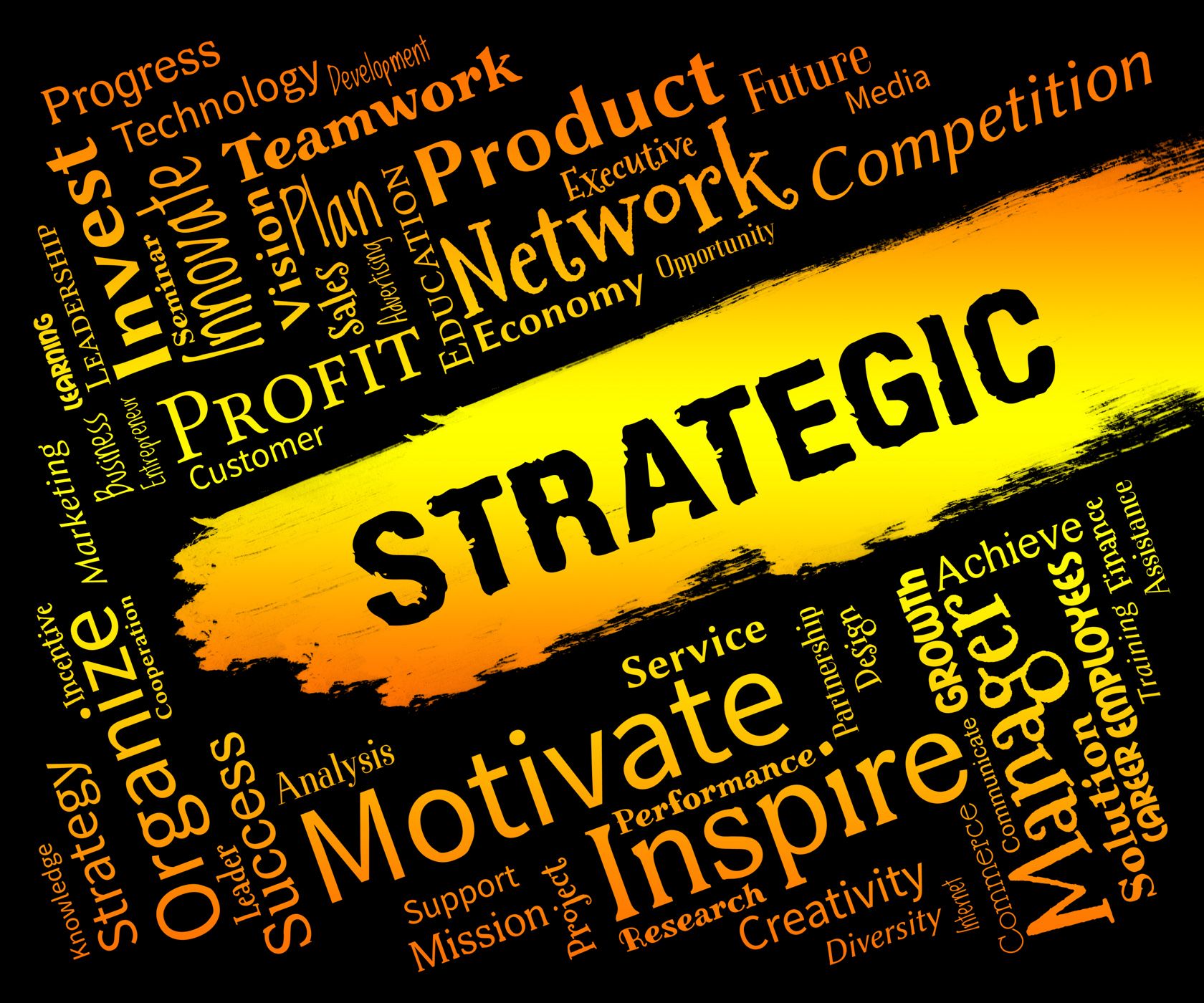Strategic Words Indicates Business Strategy And Plans, Businessstrategy, Icons, Innovation, Plan, HQ Photo
