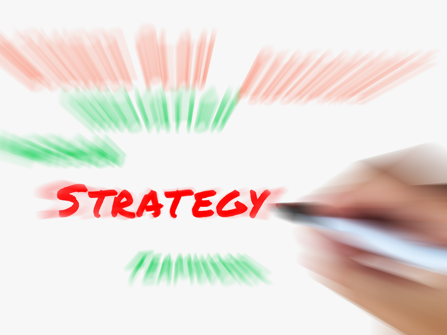 Strategy on whiteboard displays planning goals objectives and strategi photo