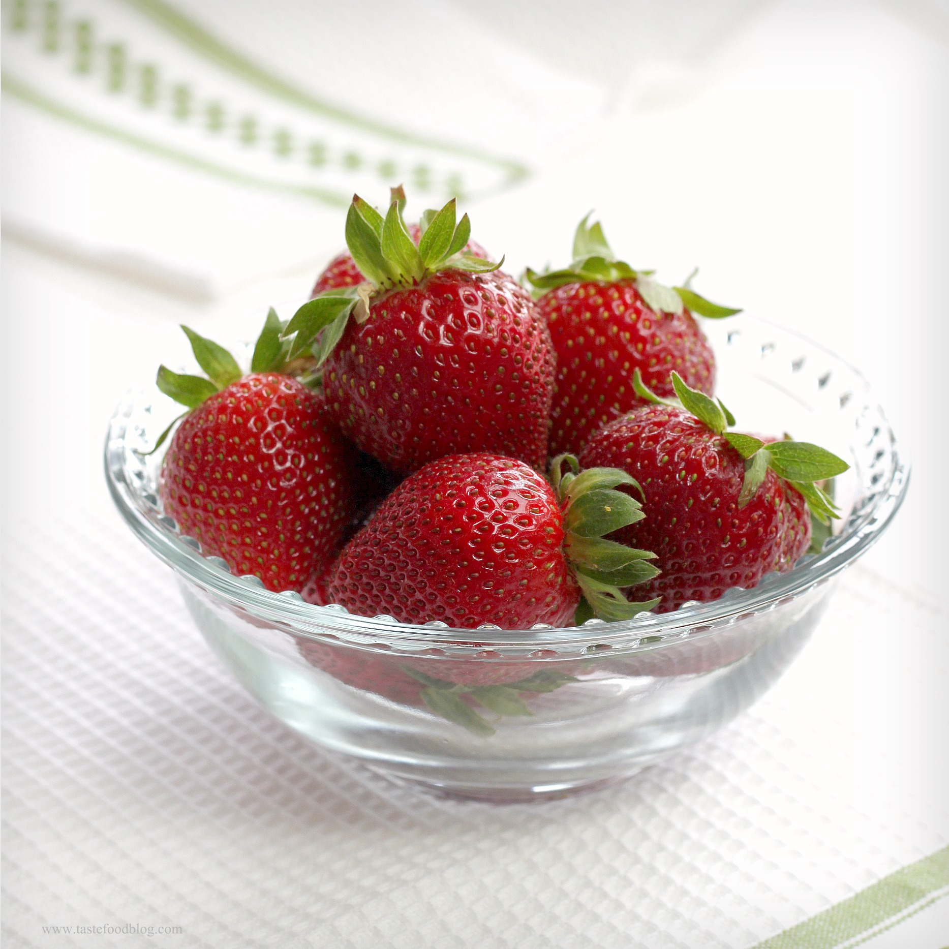 Strawberries in bowl photo