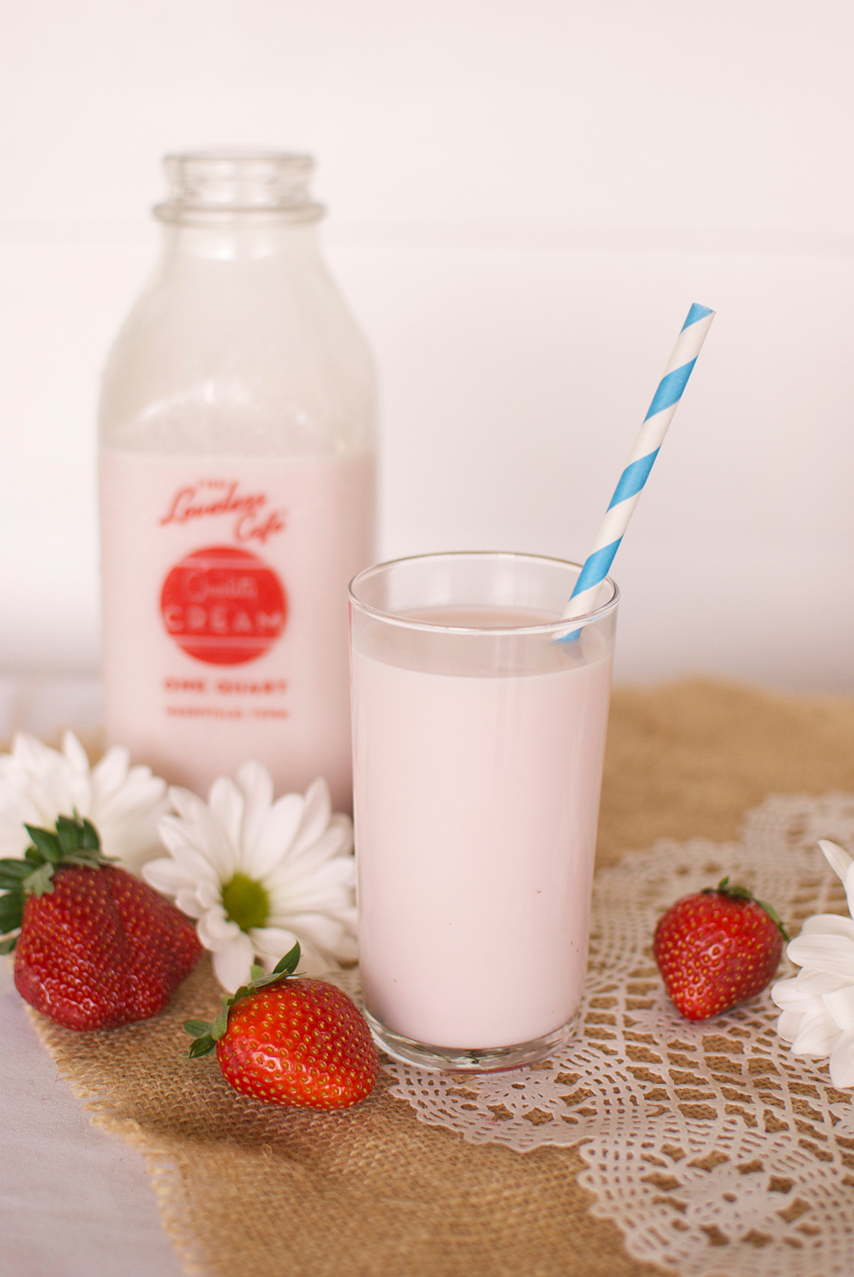 Strawberry Milk recipe from the Loveless Cafe