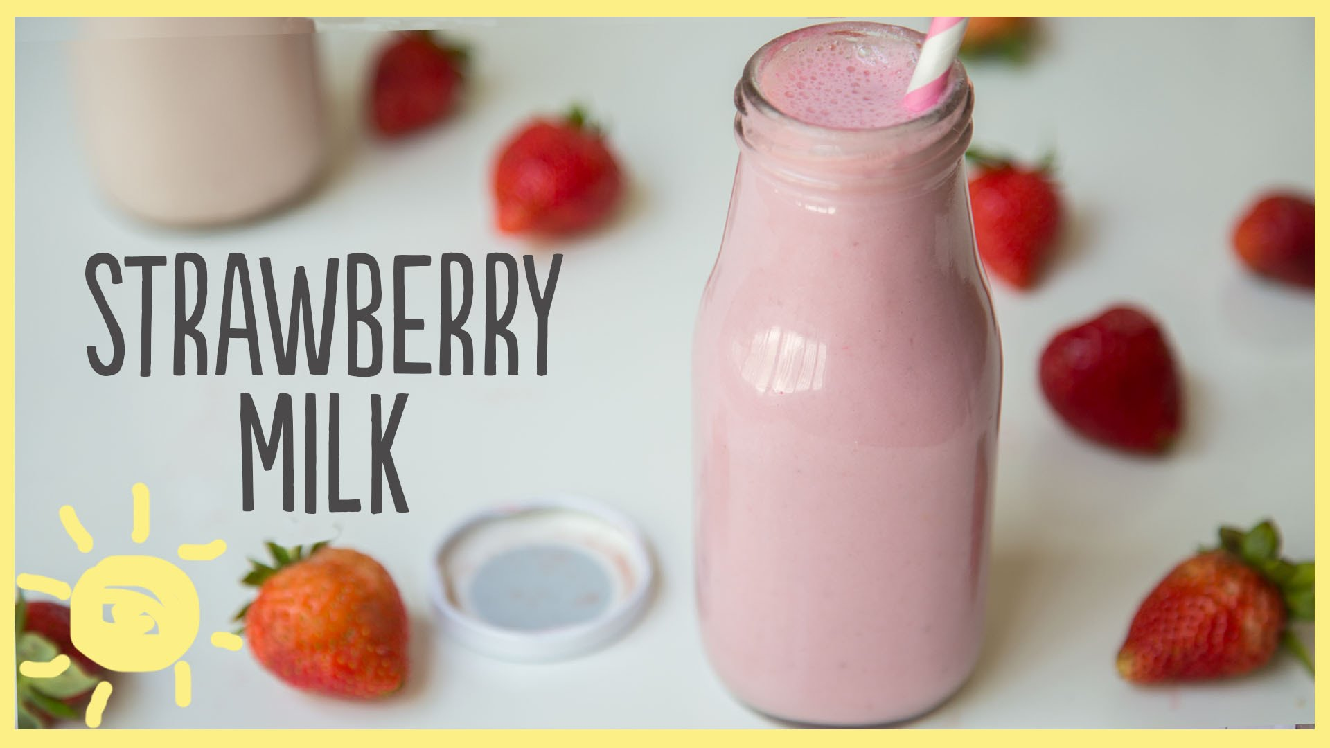 EAT | Strawberry Milk, Homemade (Only 4 Ingredients!) - YouTube