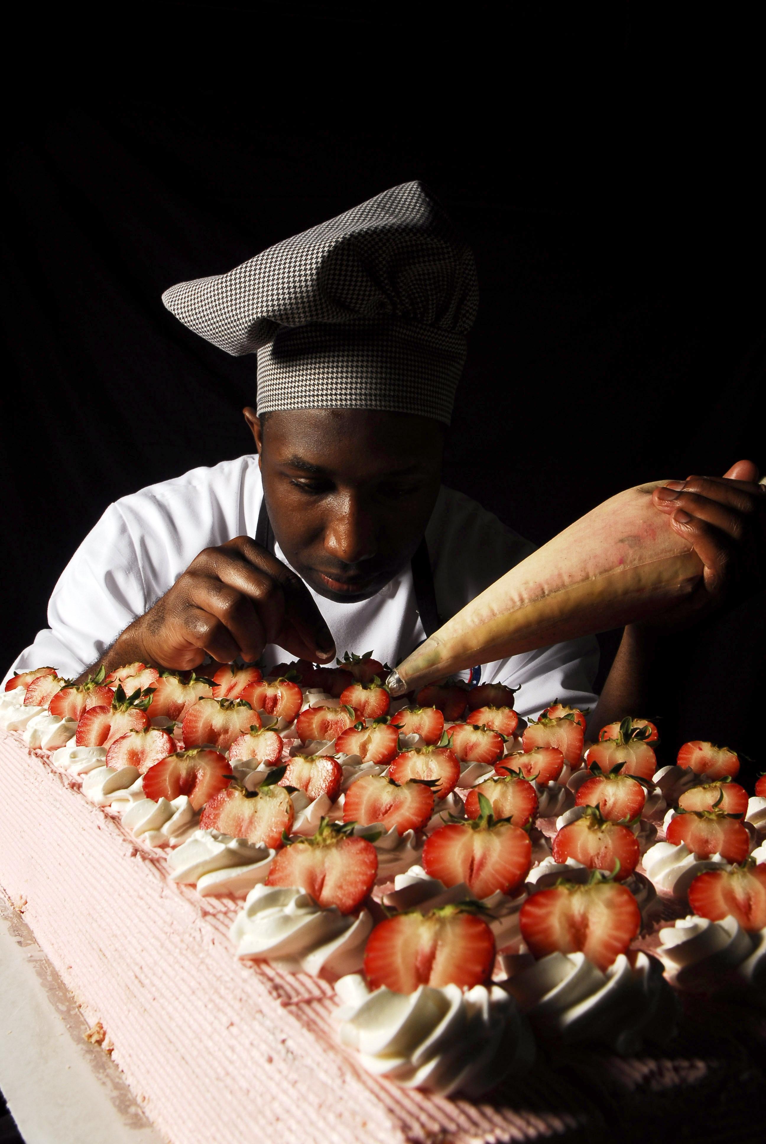 Strawberry Cake, Activity, Cake, Chef, Food, HQ Photo