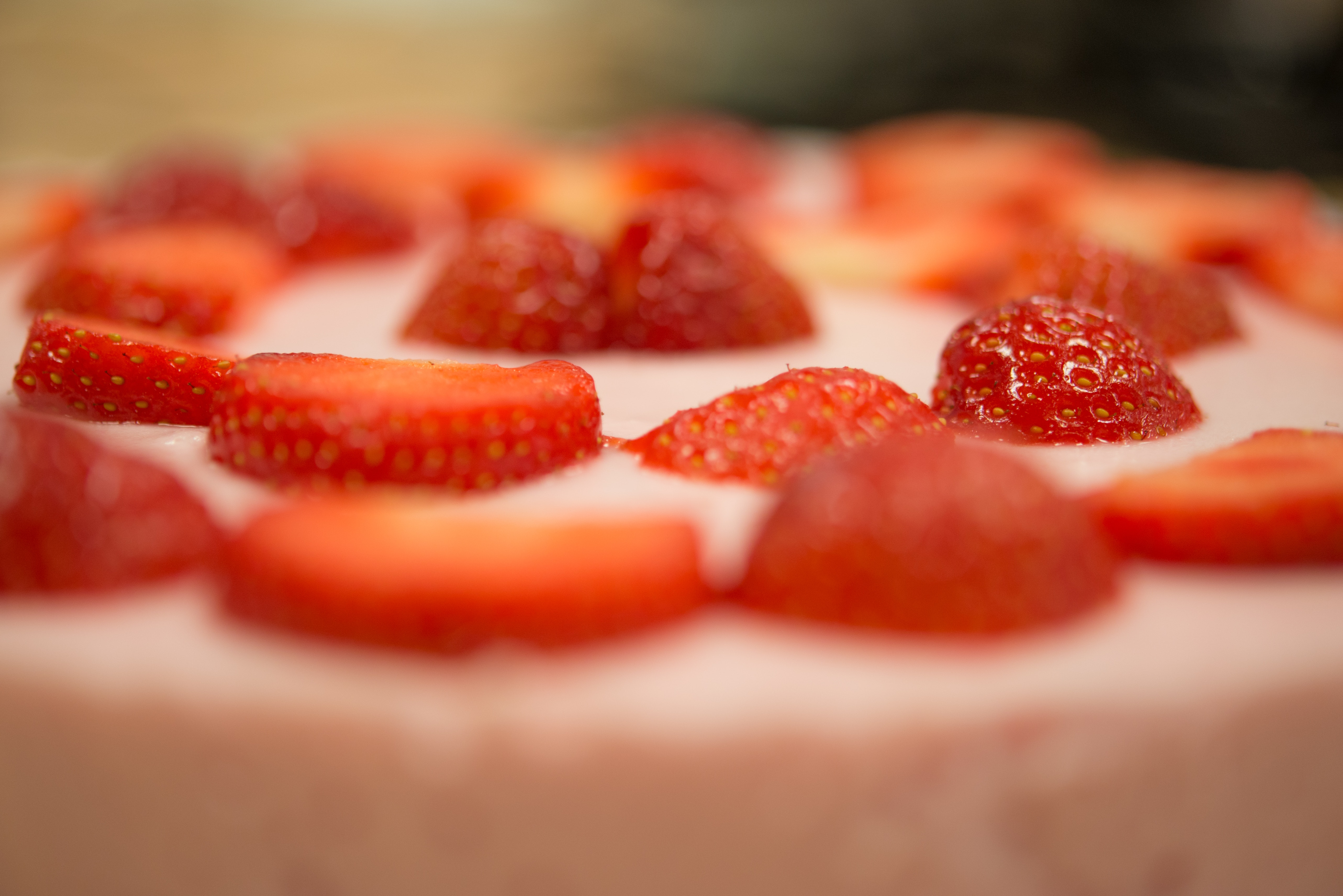 Strawberry Cake, Berries, Healthy, Sweetness, Sweet, HQ Photo