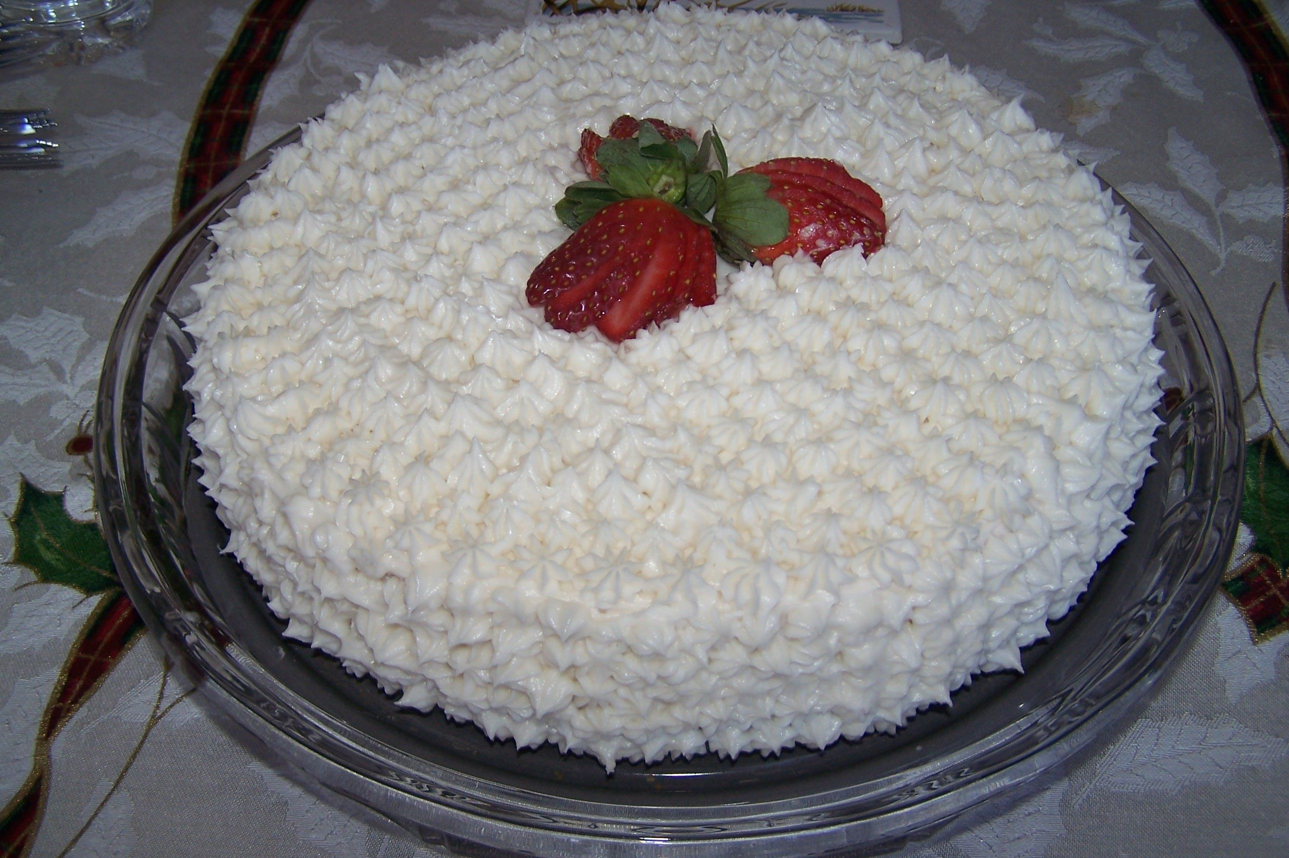 Strawberry Cheesecake, Icing, White, Strawberry, Decorate, HQ Photo