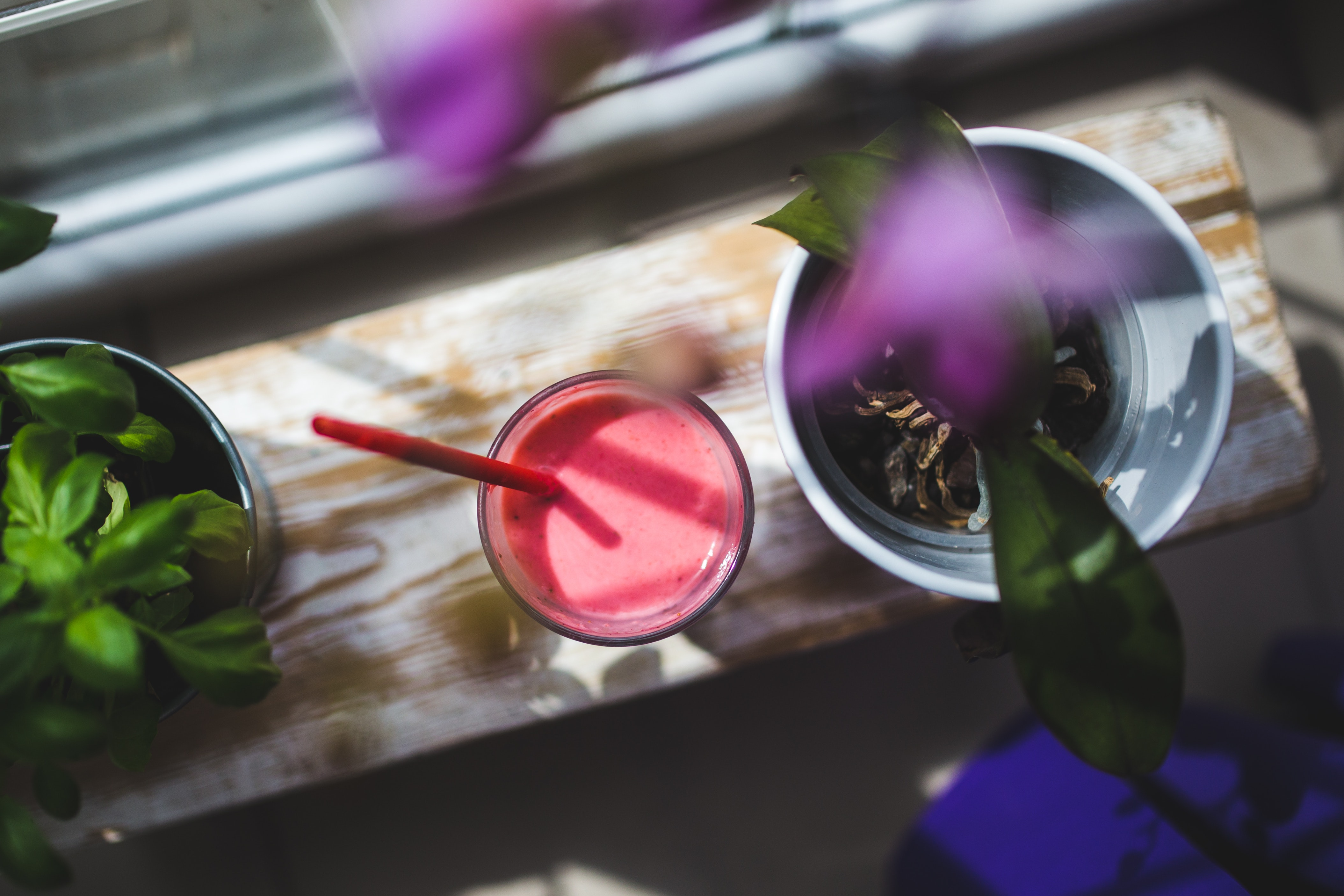 Strawberry yogurt, Indoors, Wood, Traditional, Table, HQ Photo