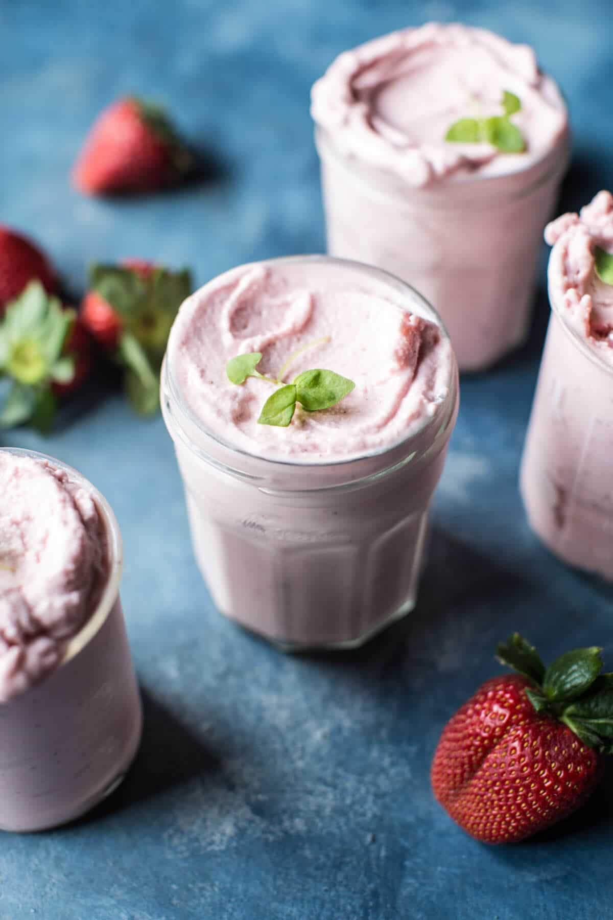 Strawberry Rosehip Frozen Yogurt. - Half Baked Harvest