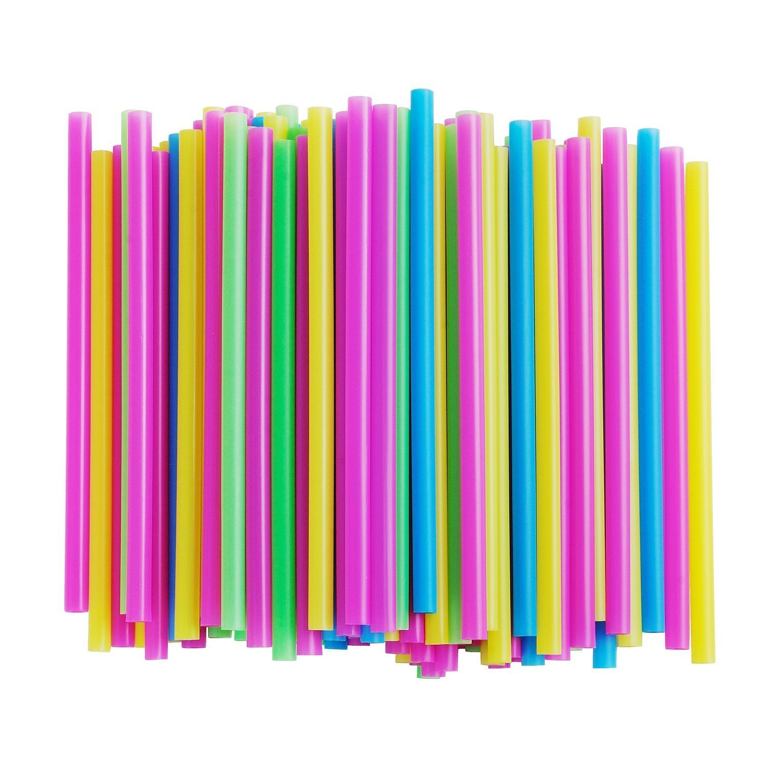Amazon.com: Assorted Bright Colors Jumbo Smoothie Straws, Pack of ...