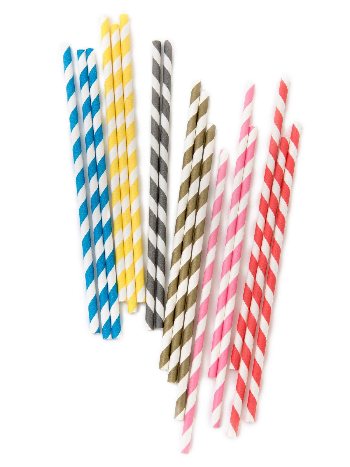 Paper straws UK   striped paper straws   Papermash UK