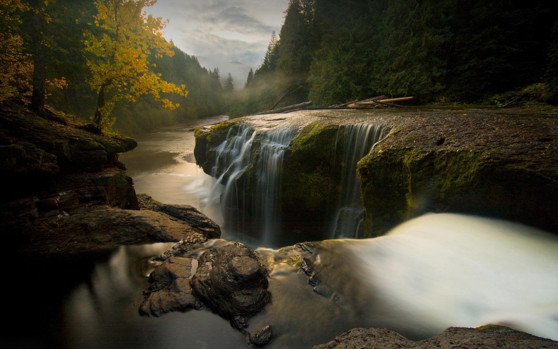 nature, Landscape, Water, Trees, Washington State, River, Waterfall ...