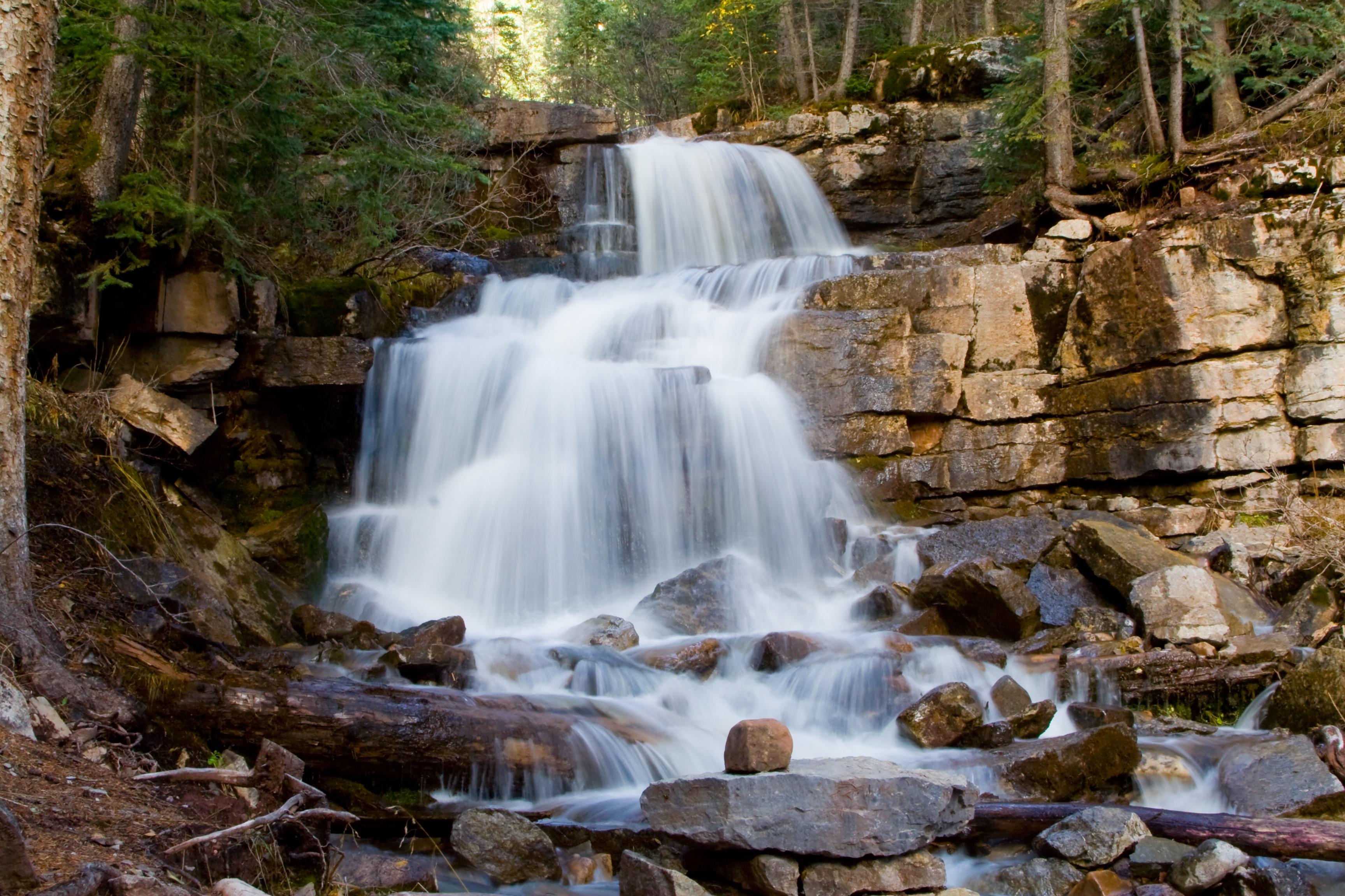 Stream Exposure, Autumn, River, Waterfall, Water, HQ Photo