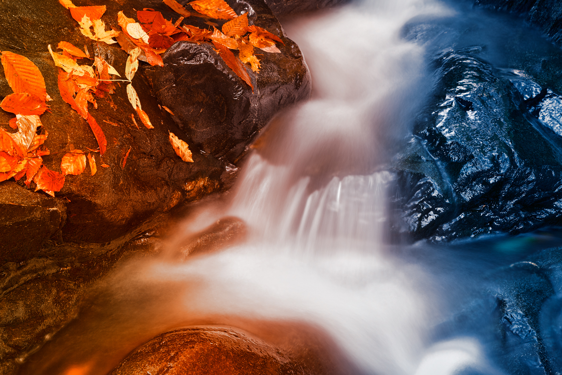 Stream of Fire & Ice - HDR, Abstract, Orange, Rocks, Rock, HQ Photo