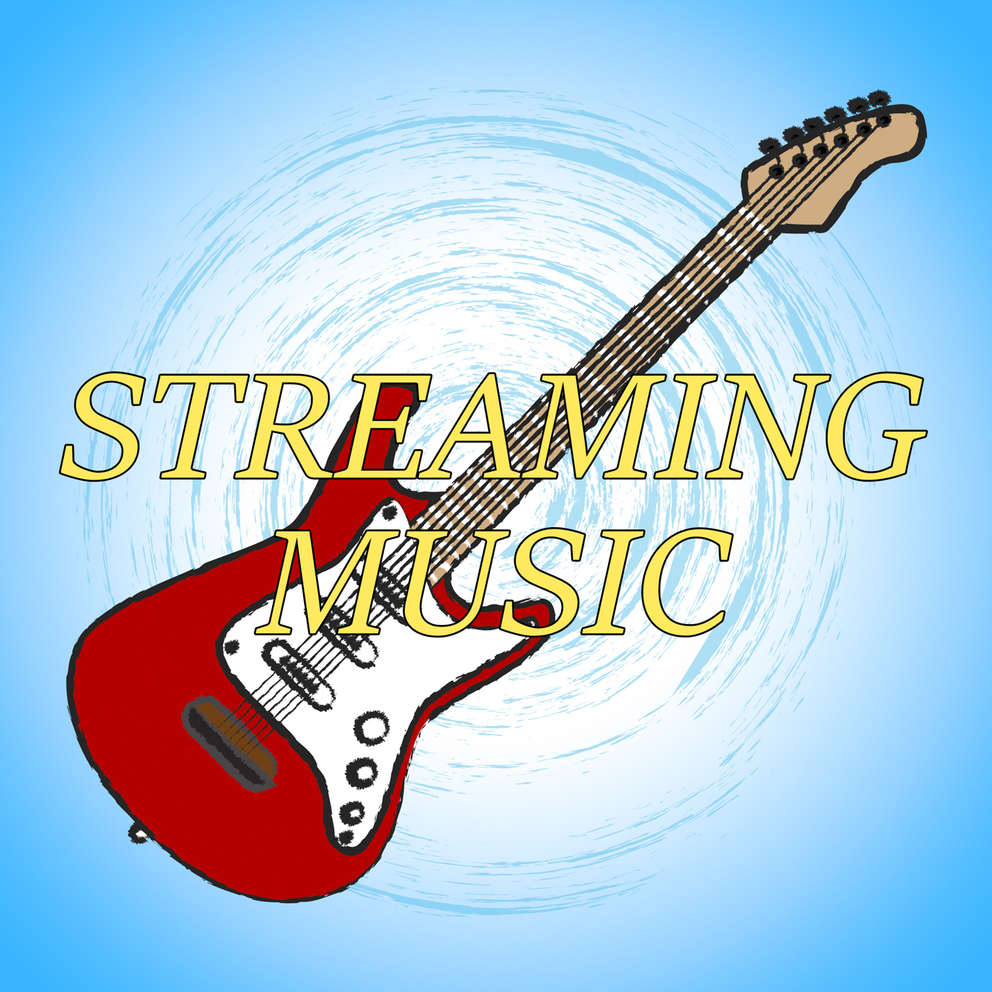 Streaming Music Means Sound Track And Acoustic, Acoustic, Soundtrack, Webcasting, Track, HQ Photo