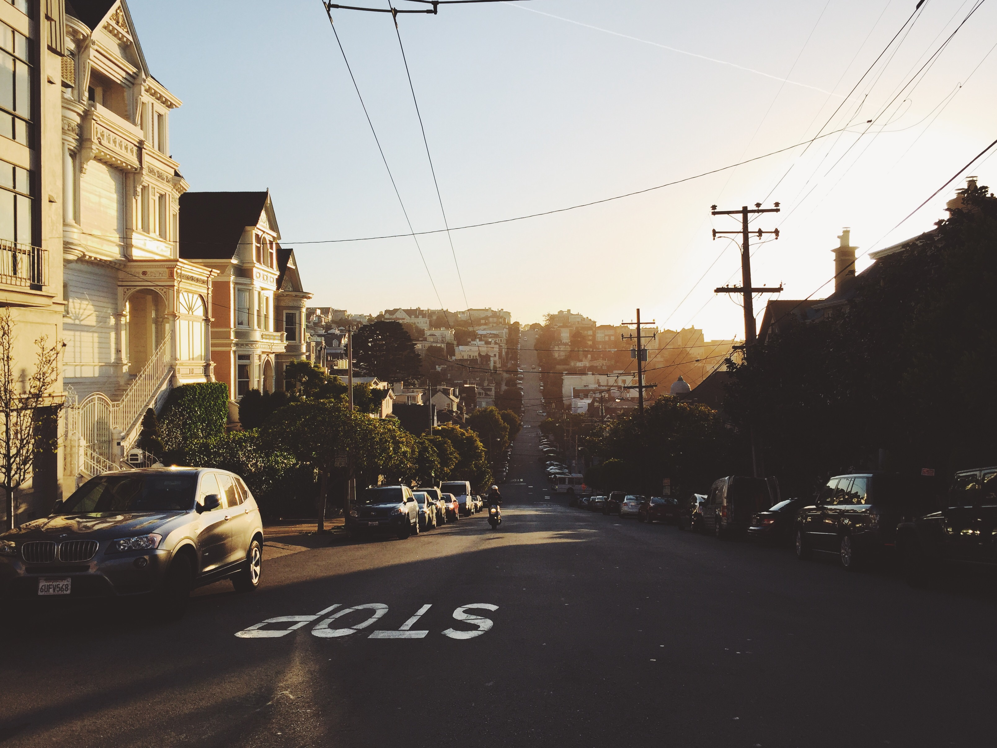 Street, Architecture, Biker, Building, Car, HQ Photo