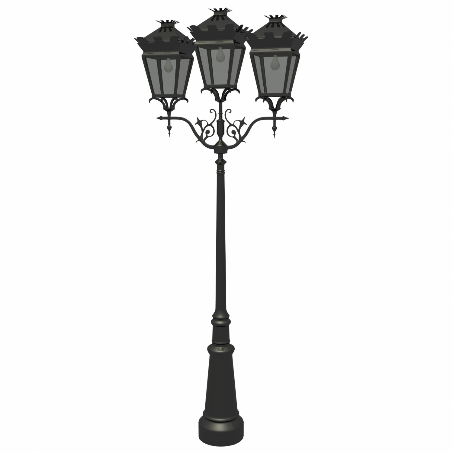 Street lamp Free 3D Model in Other 3DExport