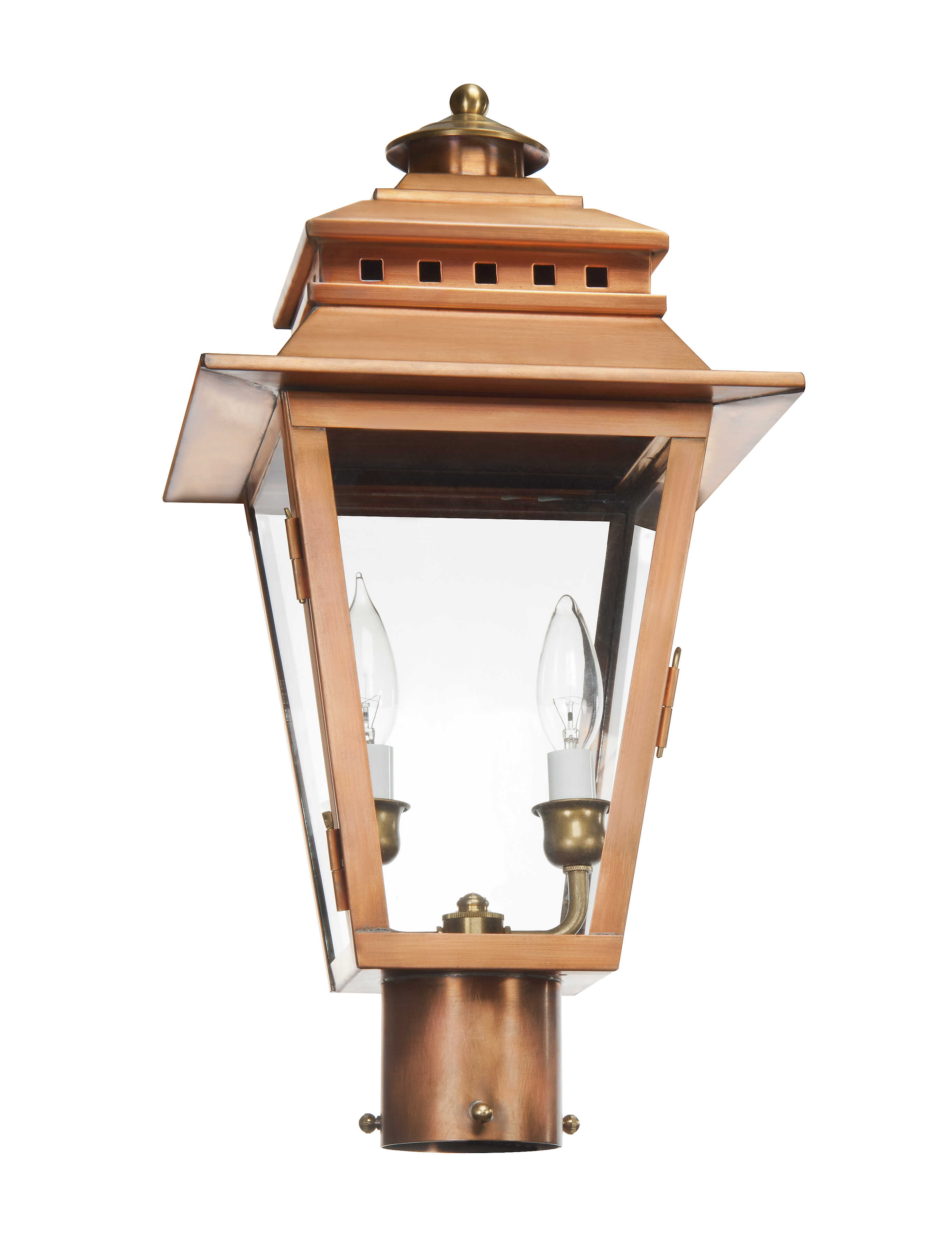 The Ashley Collection | AS-400 Electric Post Lantern - Lantern & Scroll
