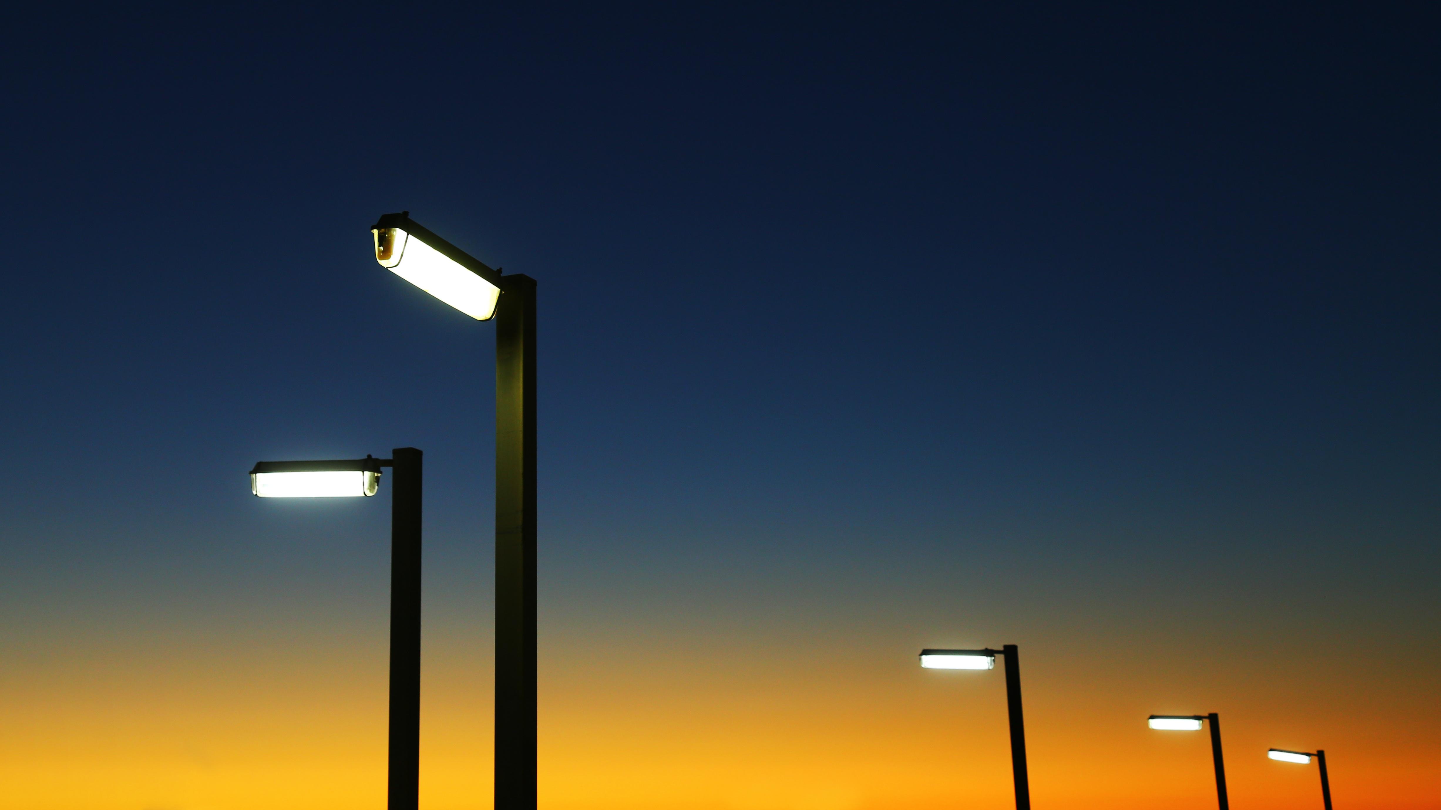 Street lights, Dark, Lamp, Light, Road, HQ Photo