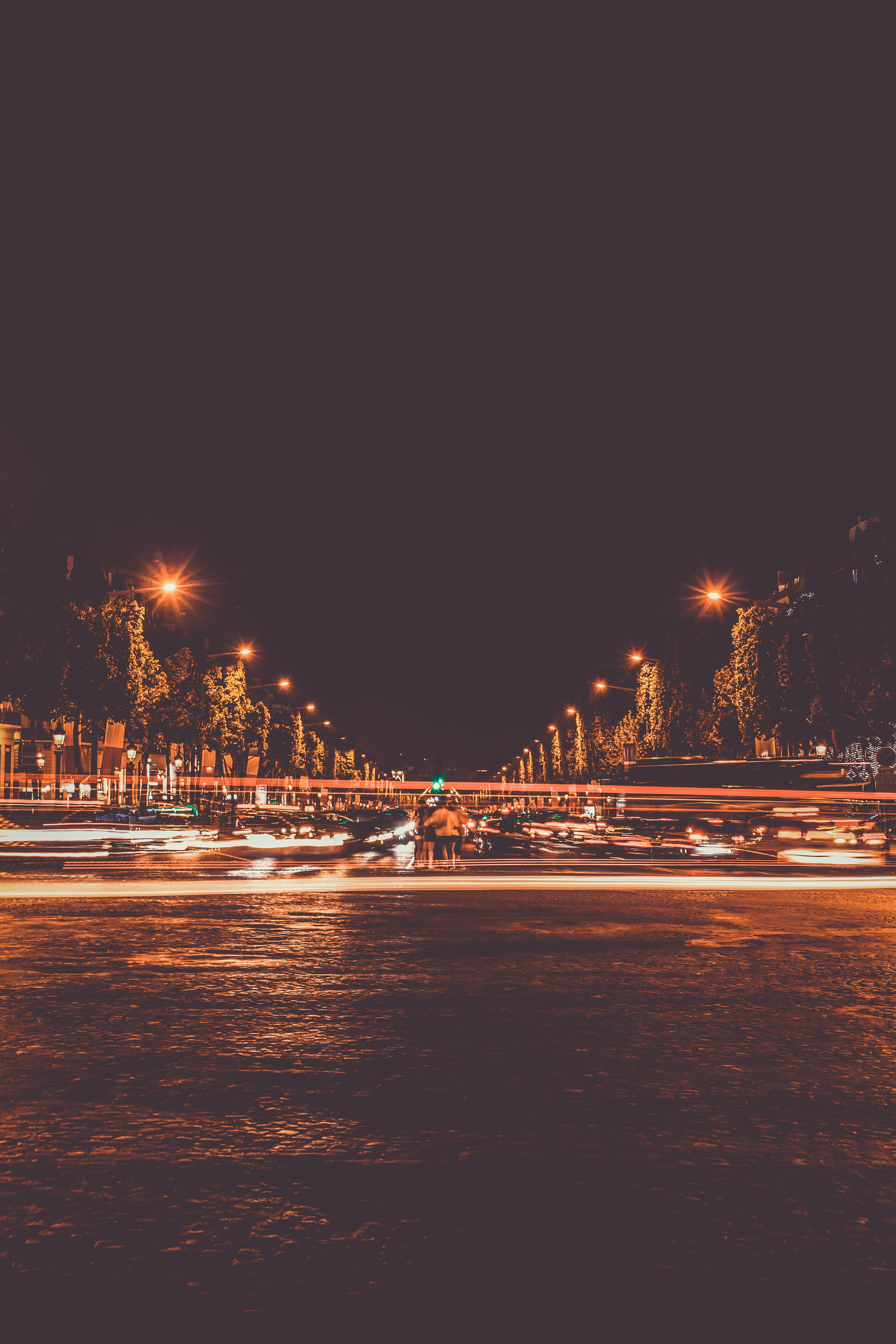Street Photography, City, Trees, Transportation system, Time lapse, HQ Photo