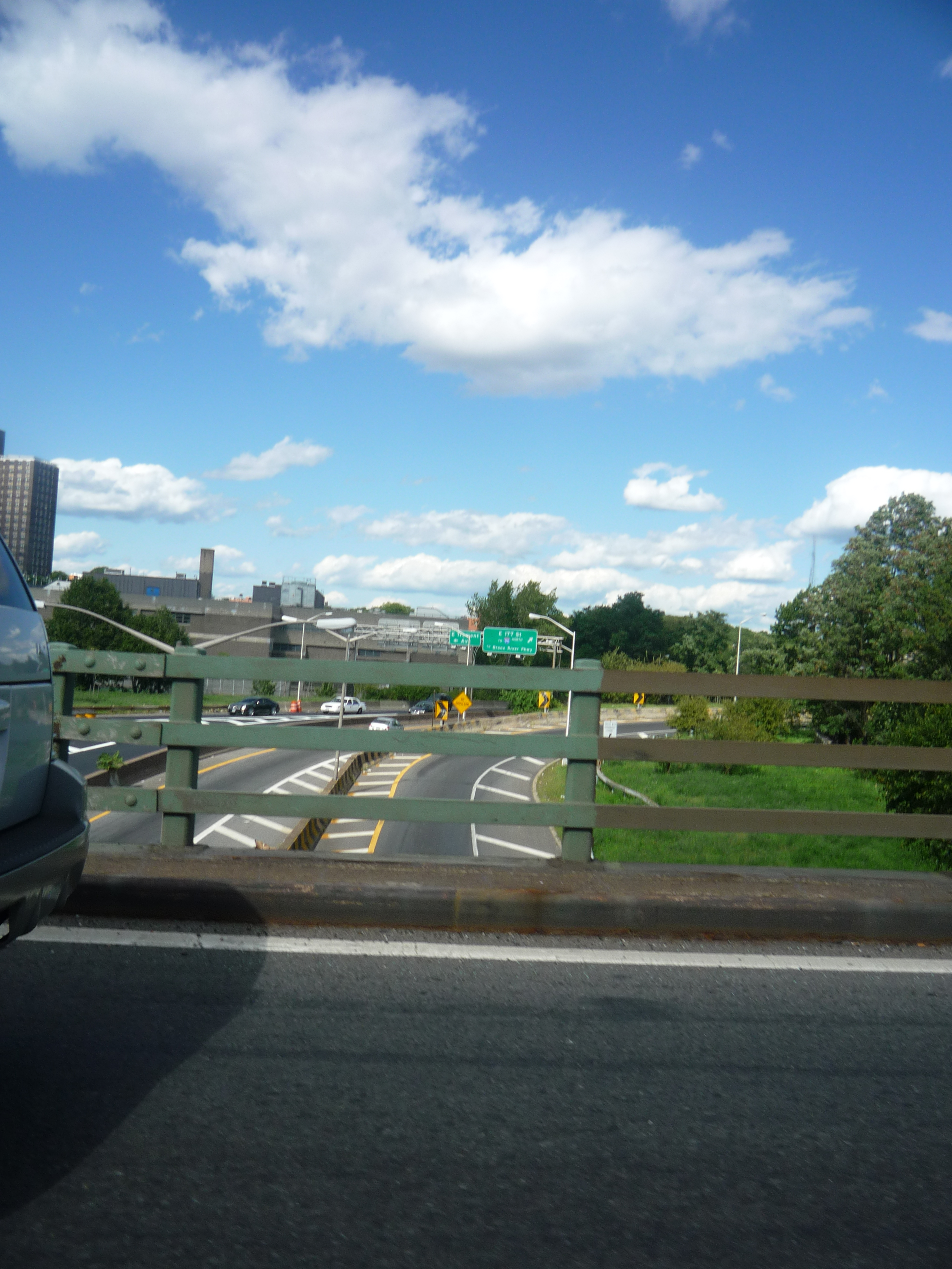 Street view, Car, Clear, Clouds, Fence, HQ Photo