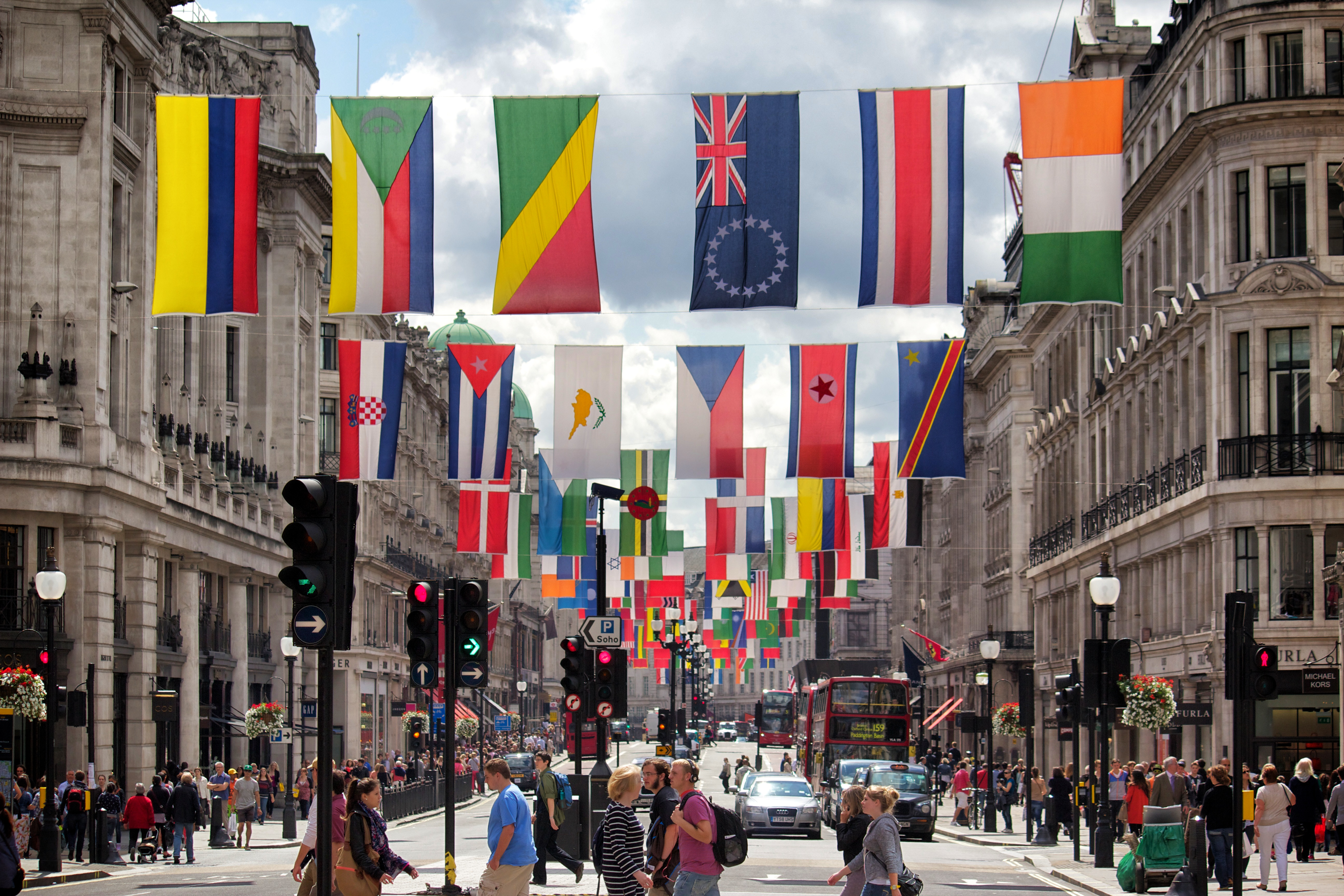 Regent Street Olympic Flags – A Life In London