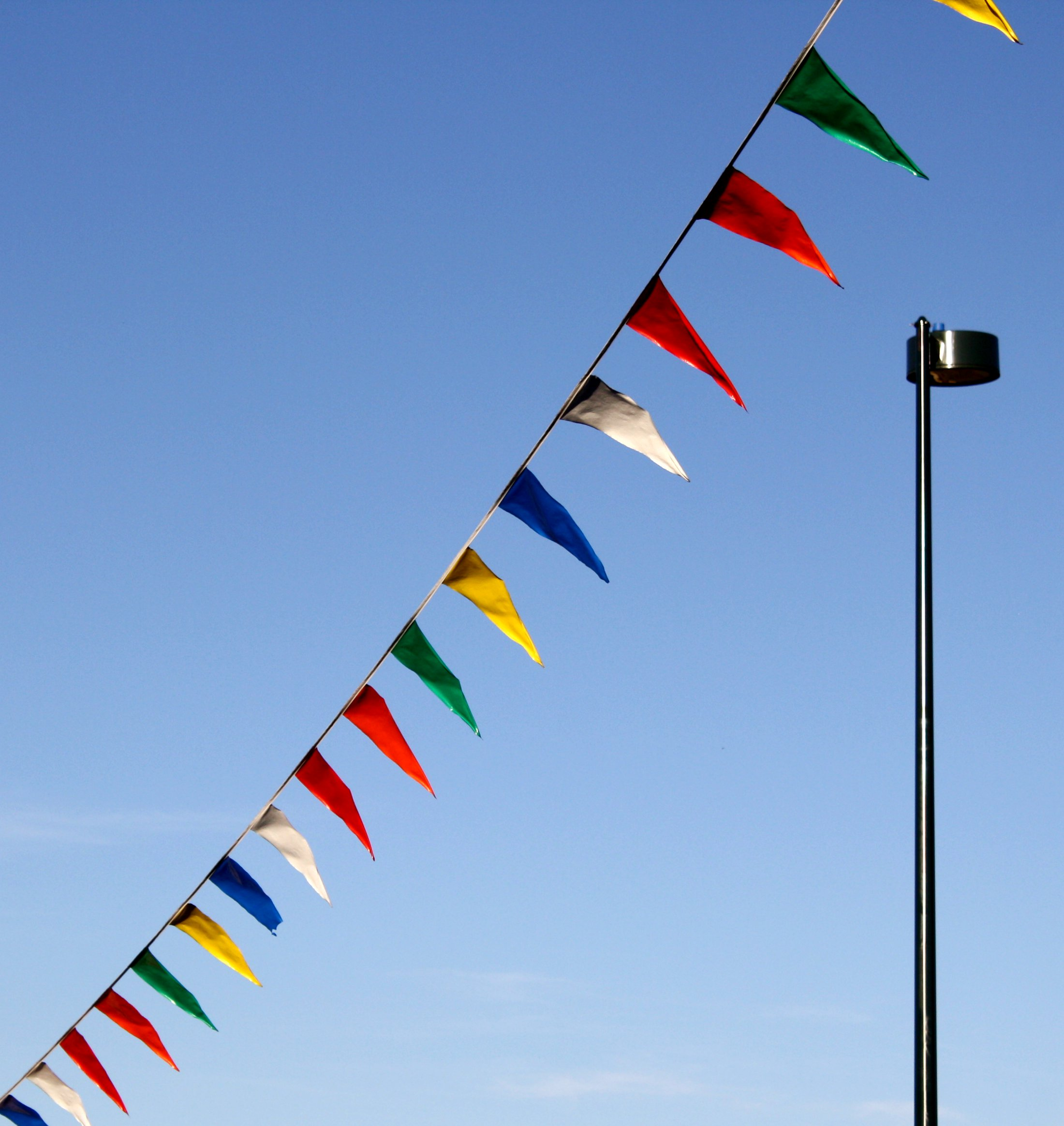 Street Lamp and Pennant Flags Picture | Free Photograph | Photos ...