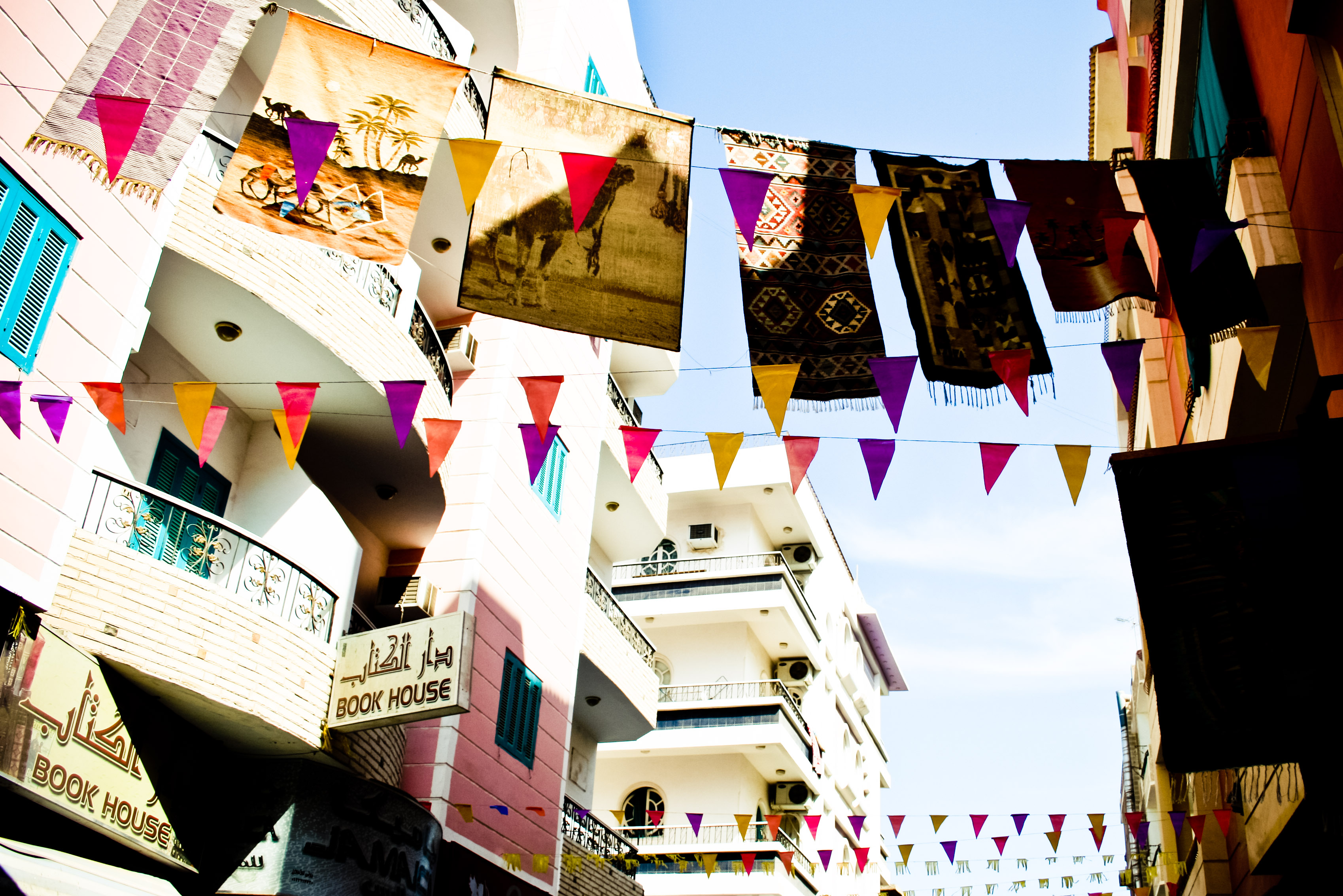 Street with flags, Arab, Arabic, Celebration, Colorful, HQ Photo
