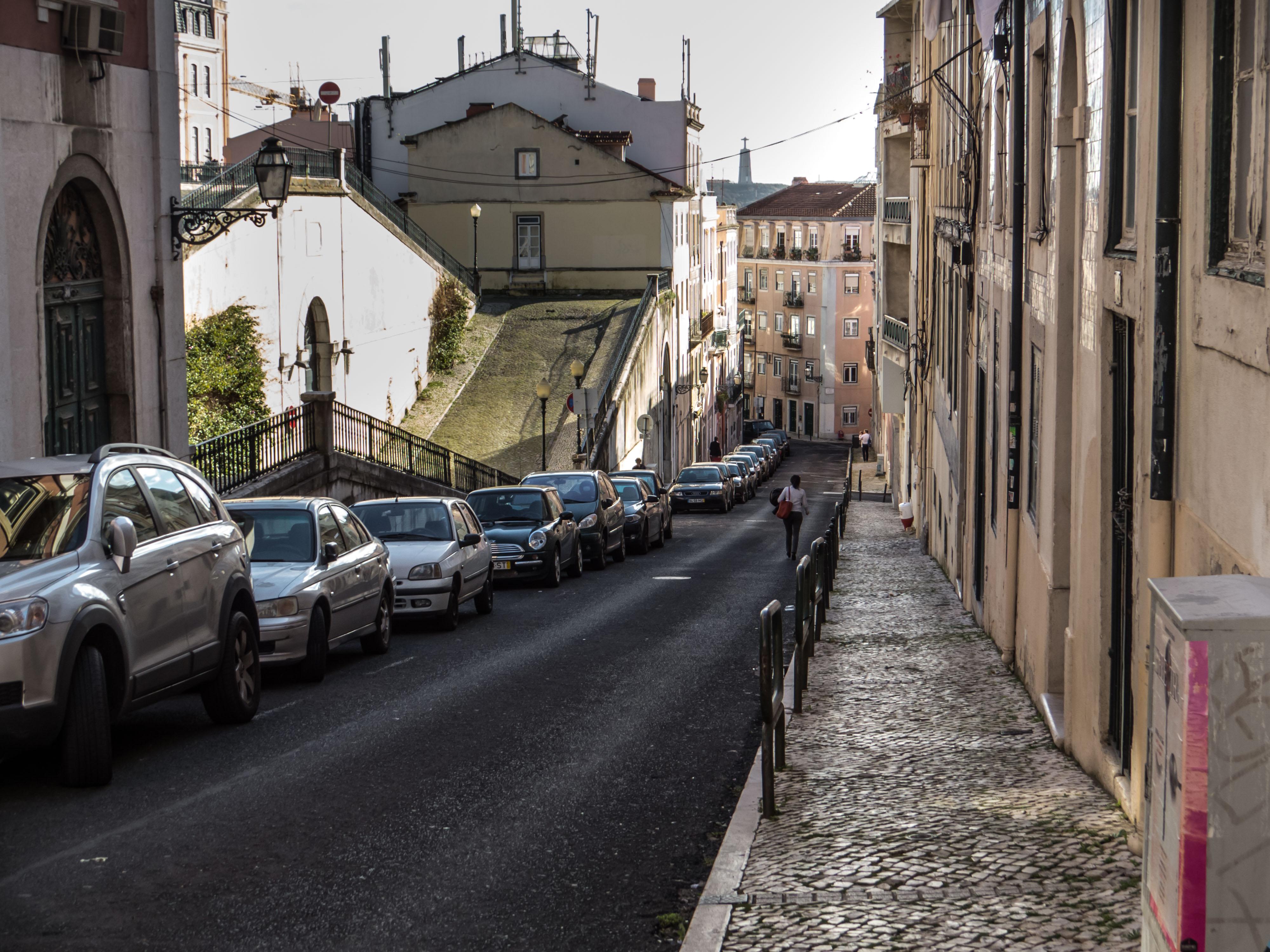 Streets of Lisbon, pavement, Portugal, romantic, street, HQ Photo