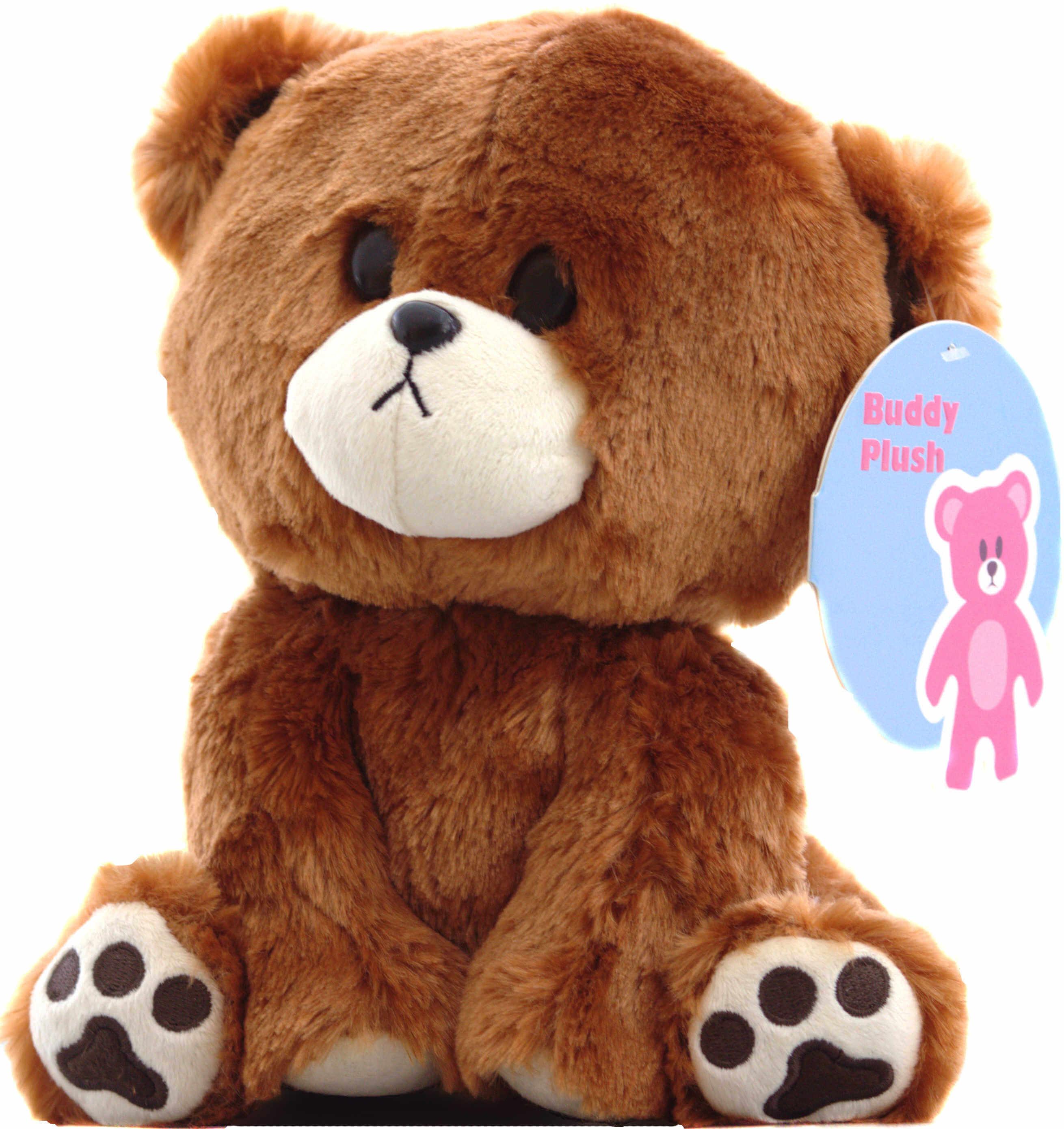 Buddy the curious Teddy Bear Stuffed Animal 9″ Plush – Buddy Plush