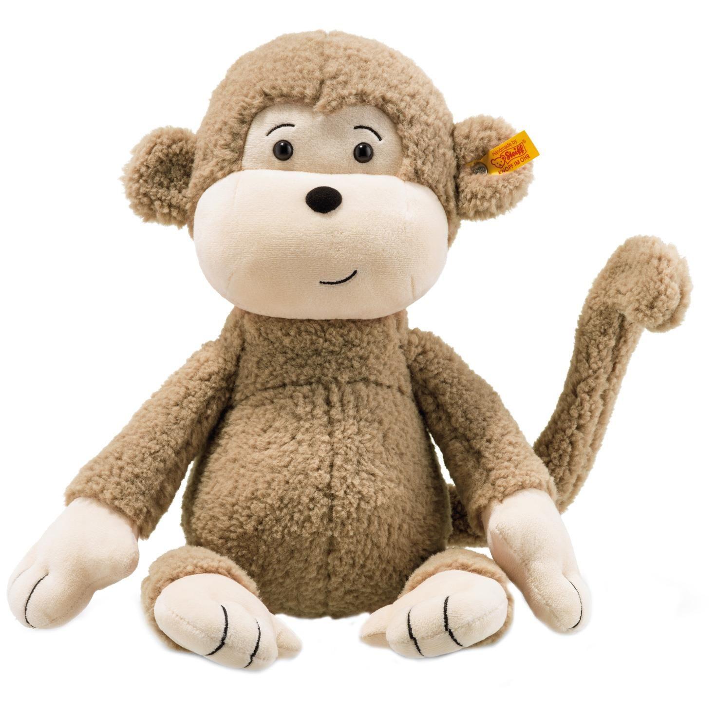 Steiff Large Brownie Monkey Stuffed Animal, 16