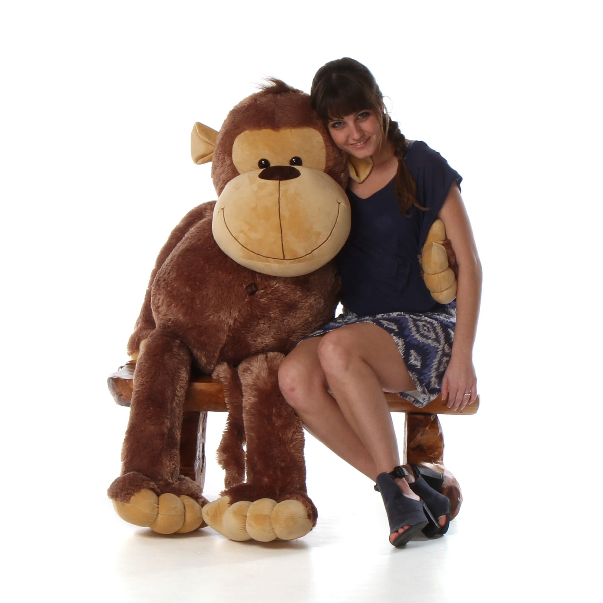 5ft Life Size Giant Stuffed Monkey Big Daddy from Giant Teddy brand ...