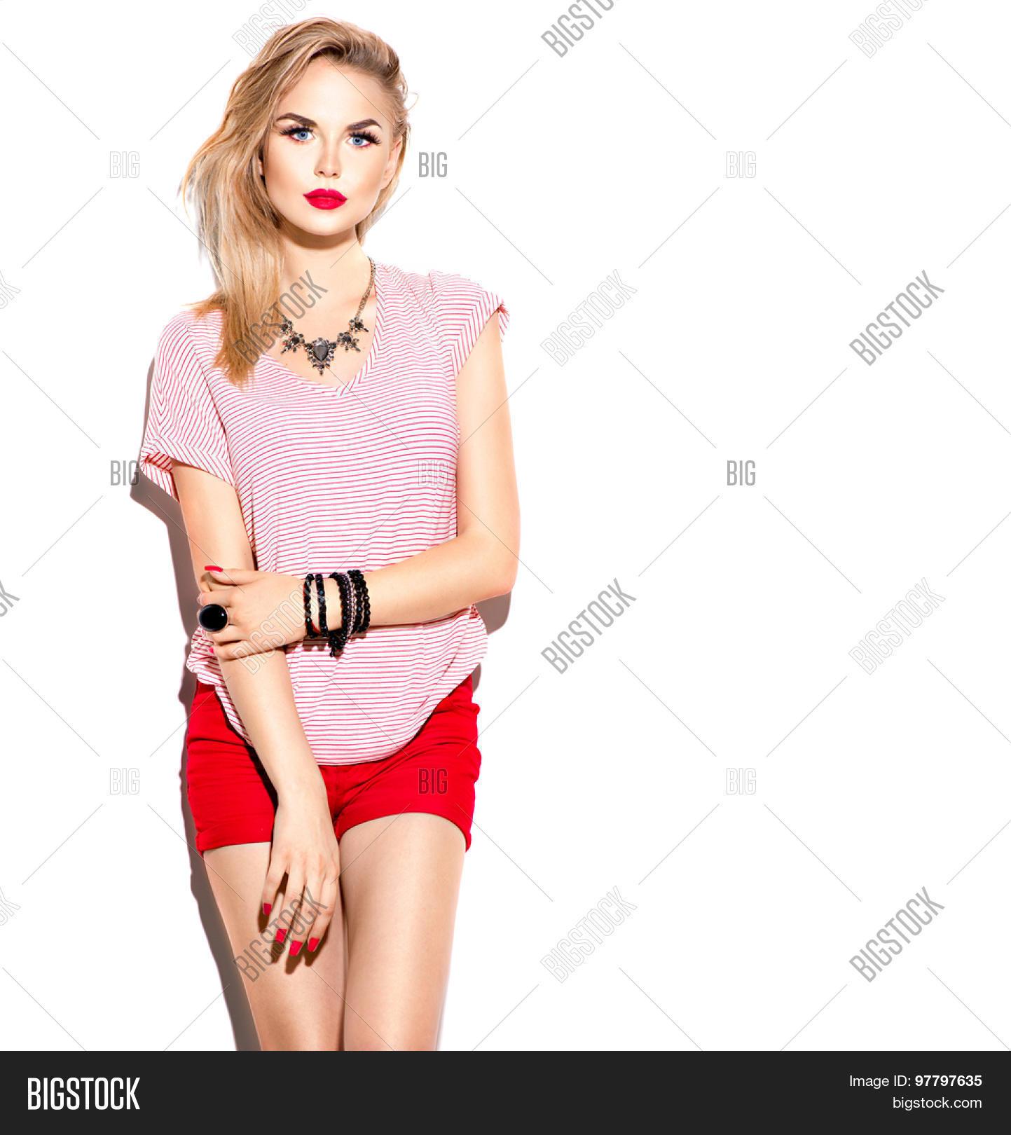 Young fashionable girl photo