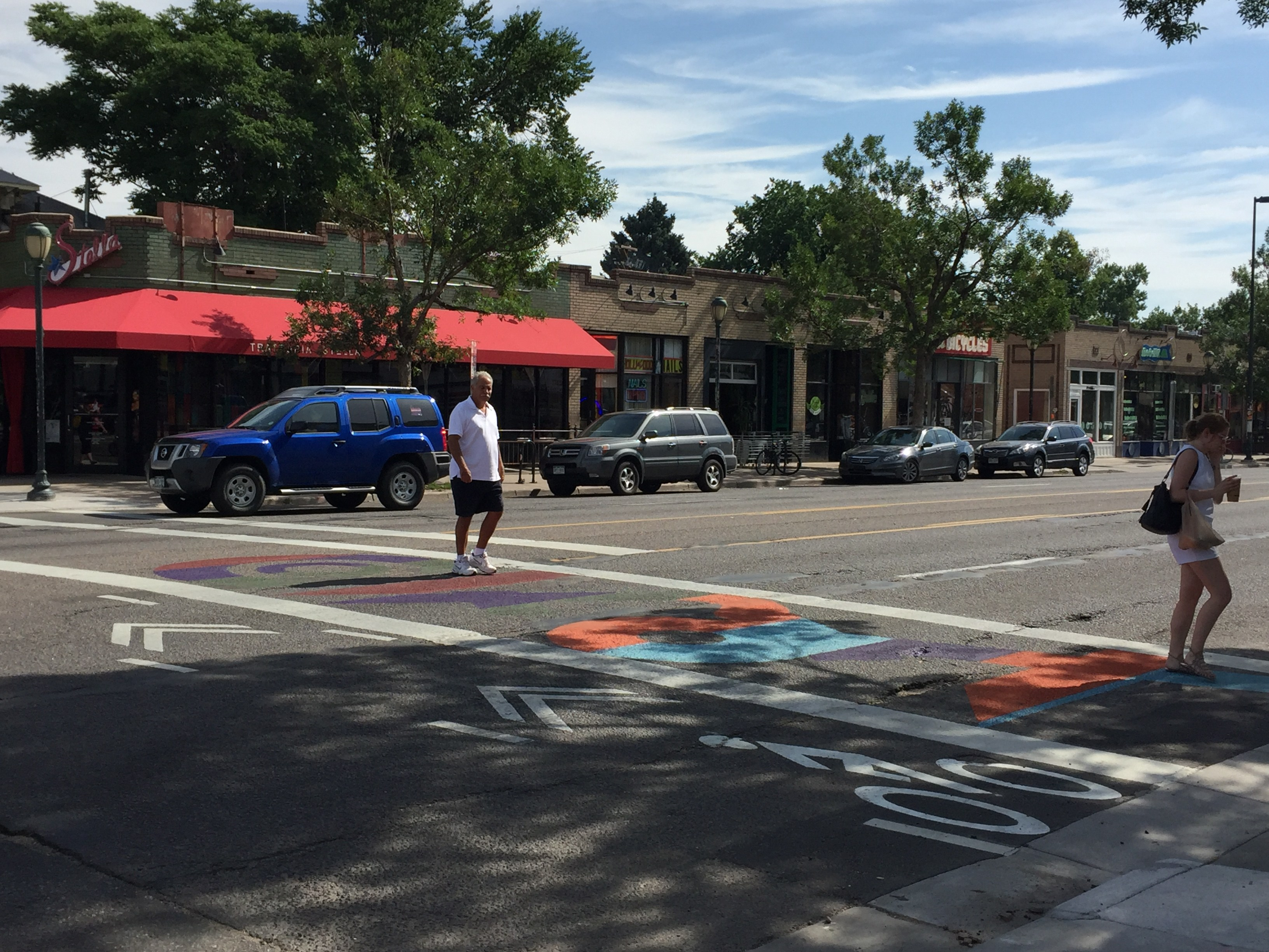 Eyes on the Street: Crosswalk Art Adds More Color to East Colfax ...