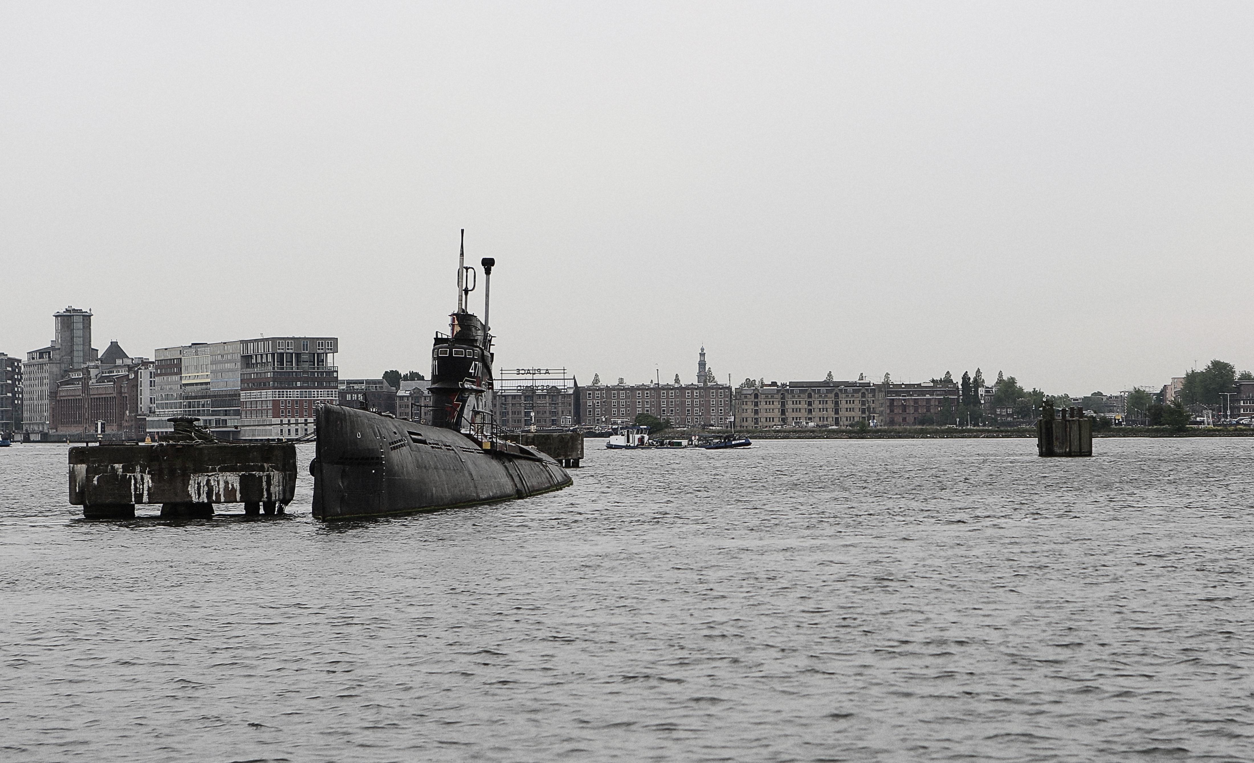 Submarine in Sea port, Black, Boat, Port, Sea, HQ Photo