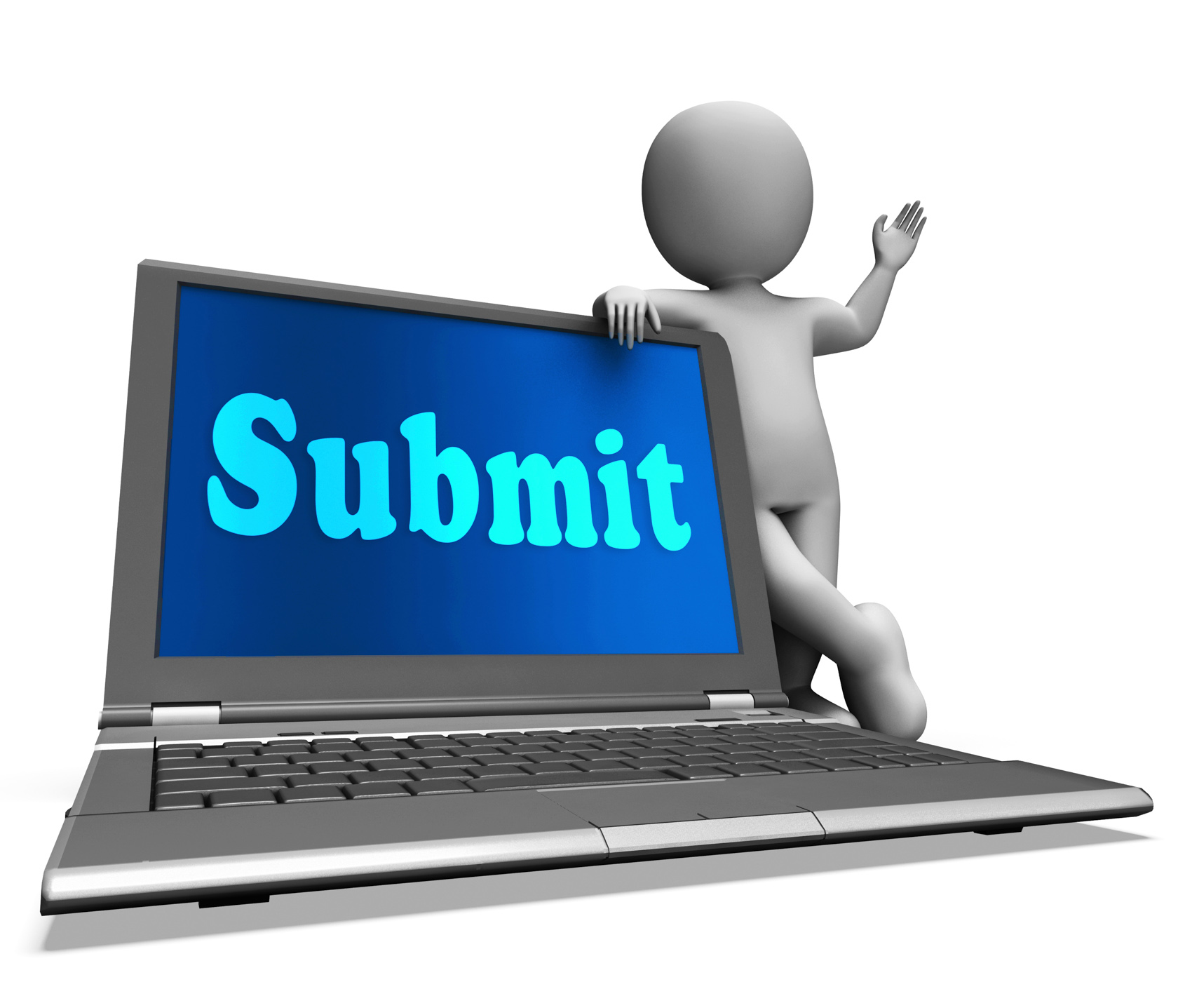 Submit laptop shows submitting submissions or applications photo