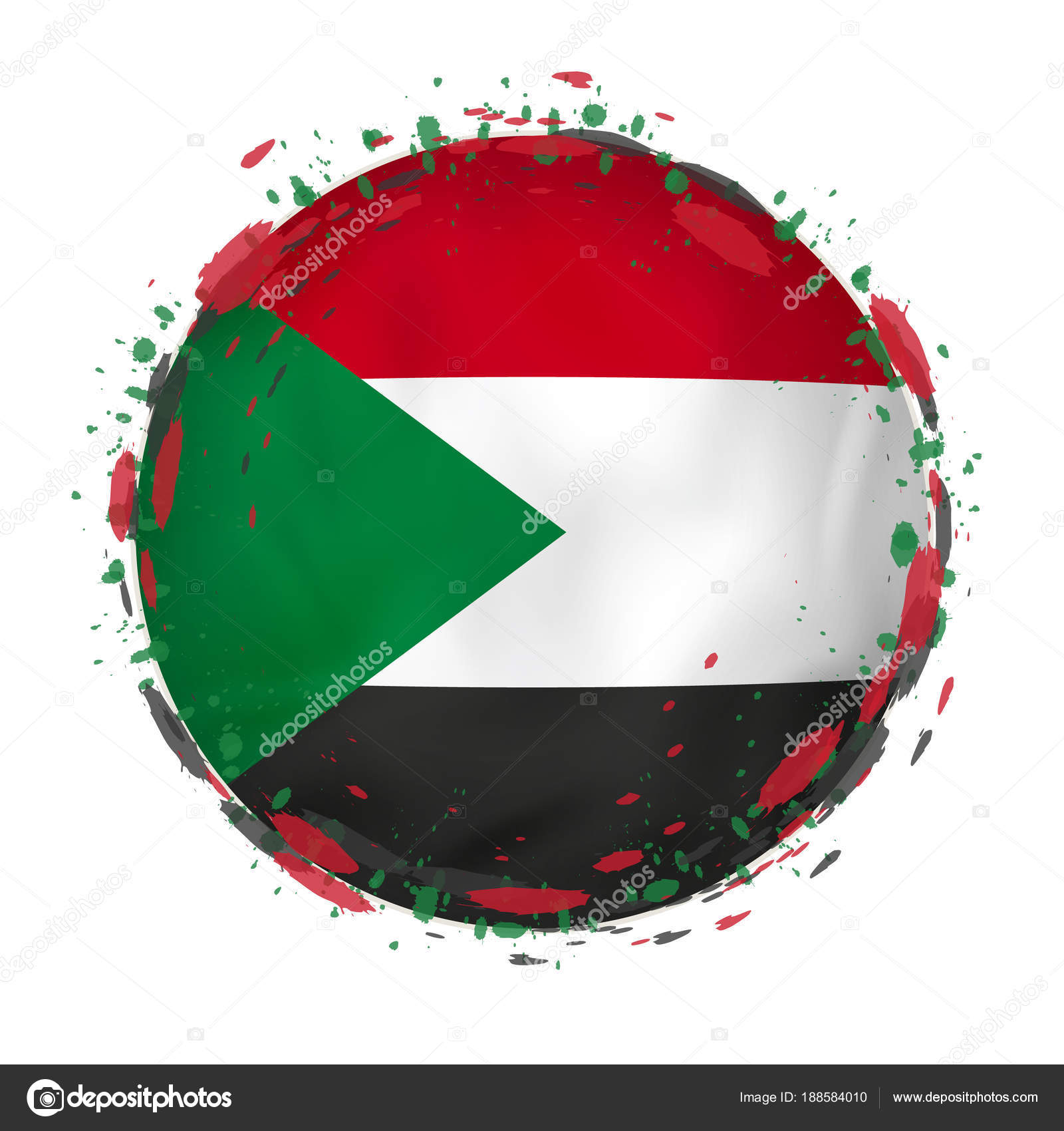 Sudan grunge flag photo