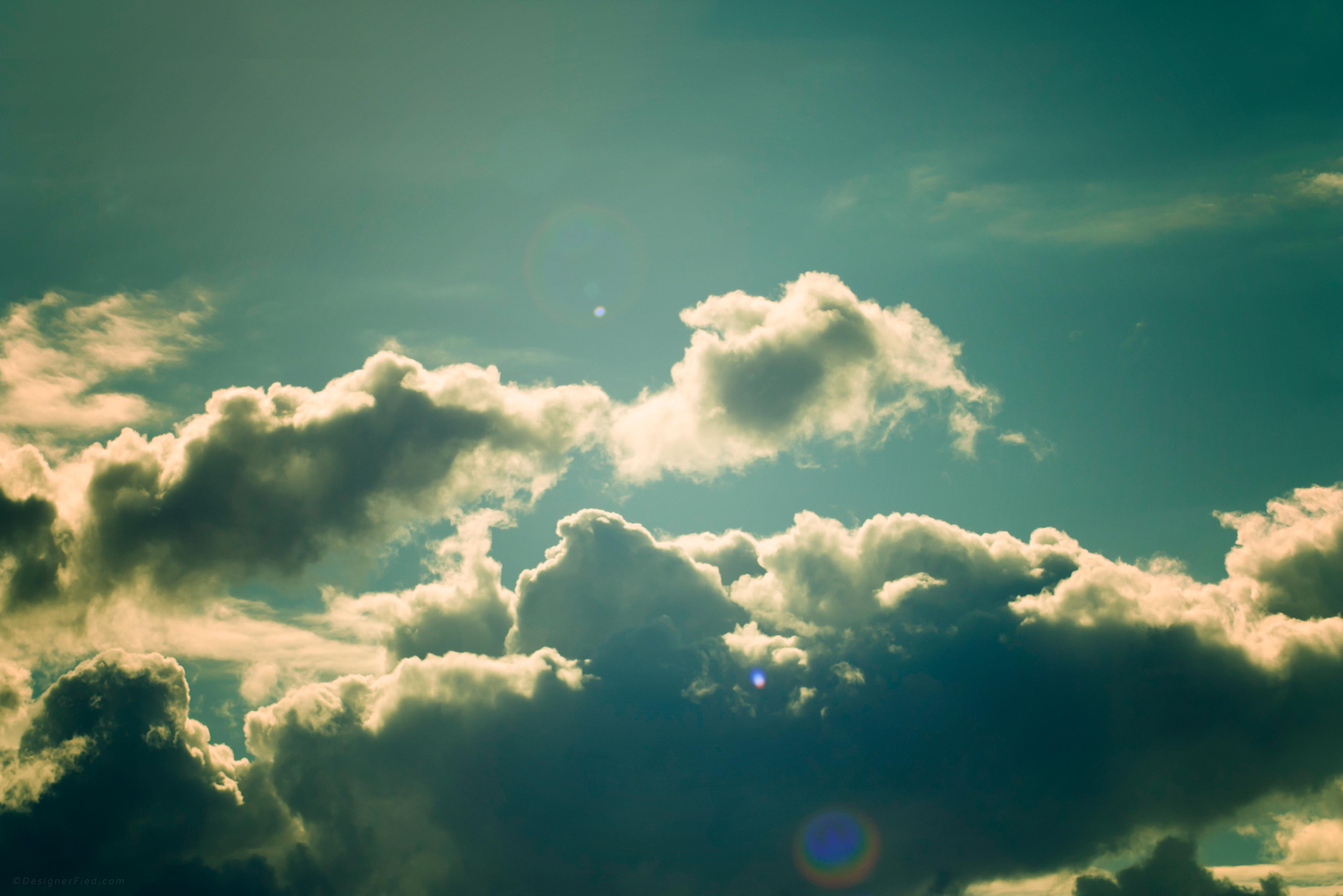 Beautiful Summer Clouds Wallpaper – DesignerFied.com