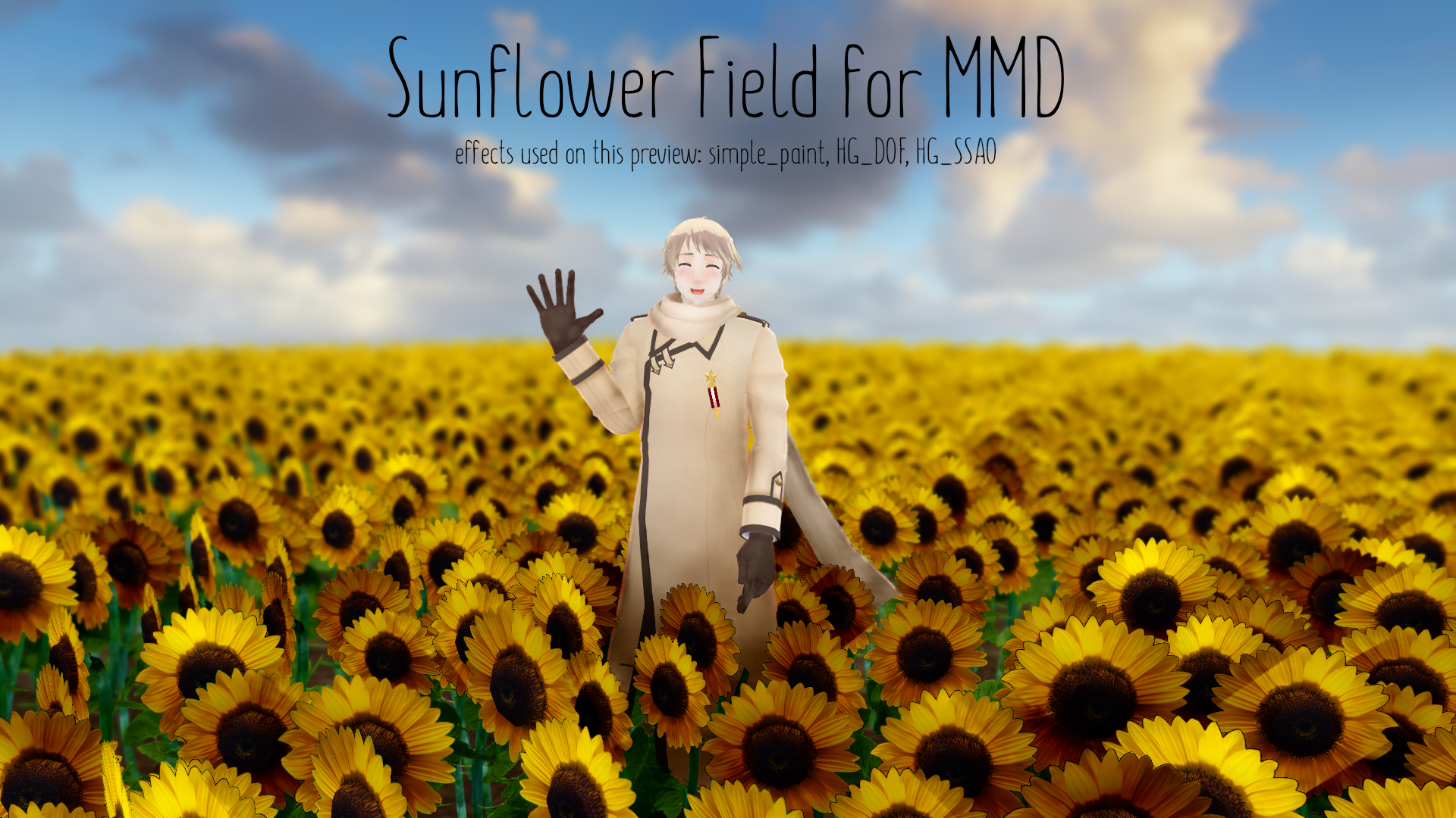 Sunflower Field [MMD DL] by ketokeas on DeviantArt