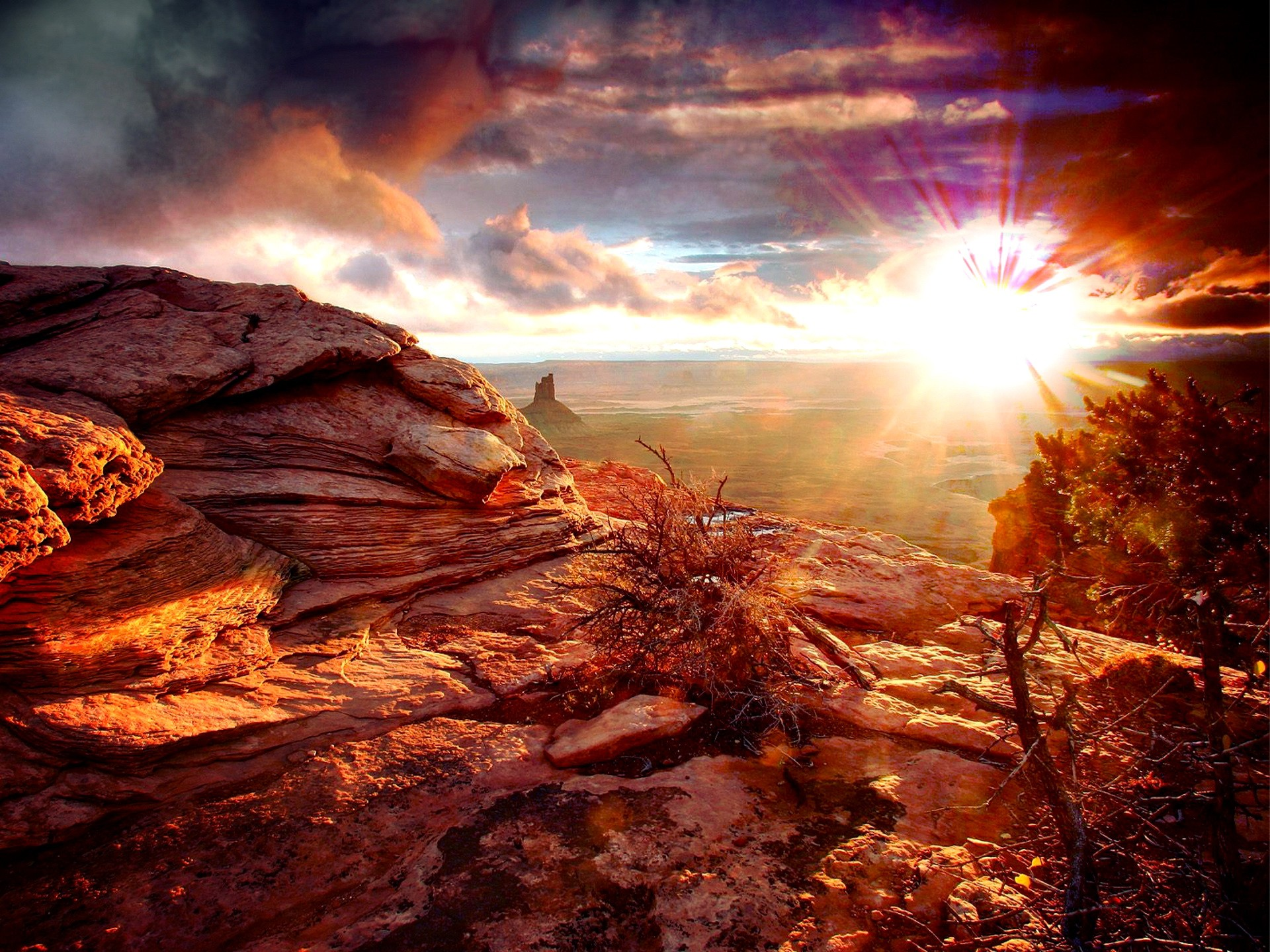 Deserts: Sunny Rocks Morning Rays Sky Nature Amazing Valley Colotful ...