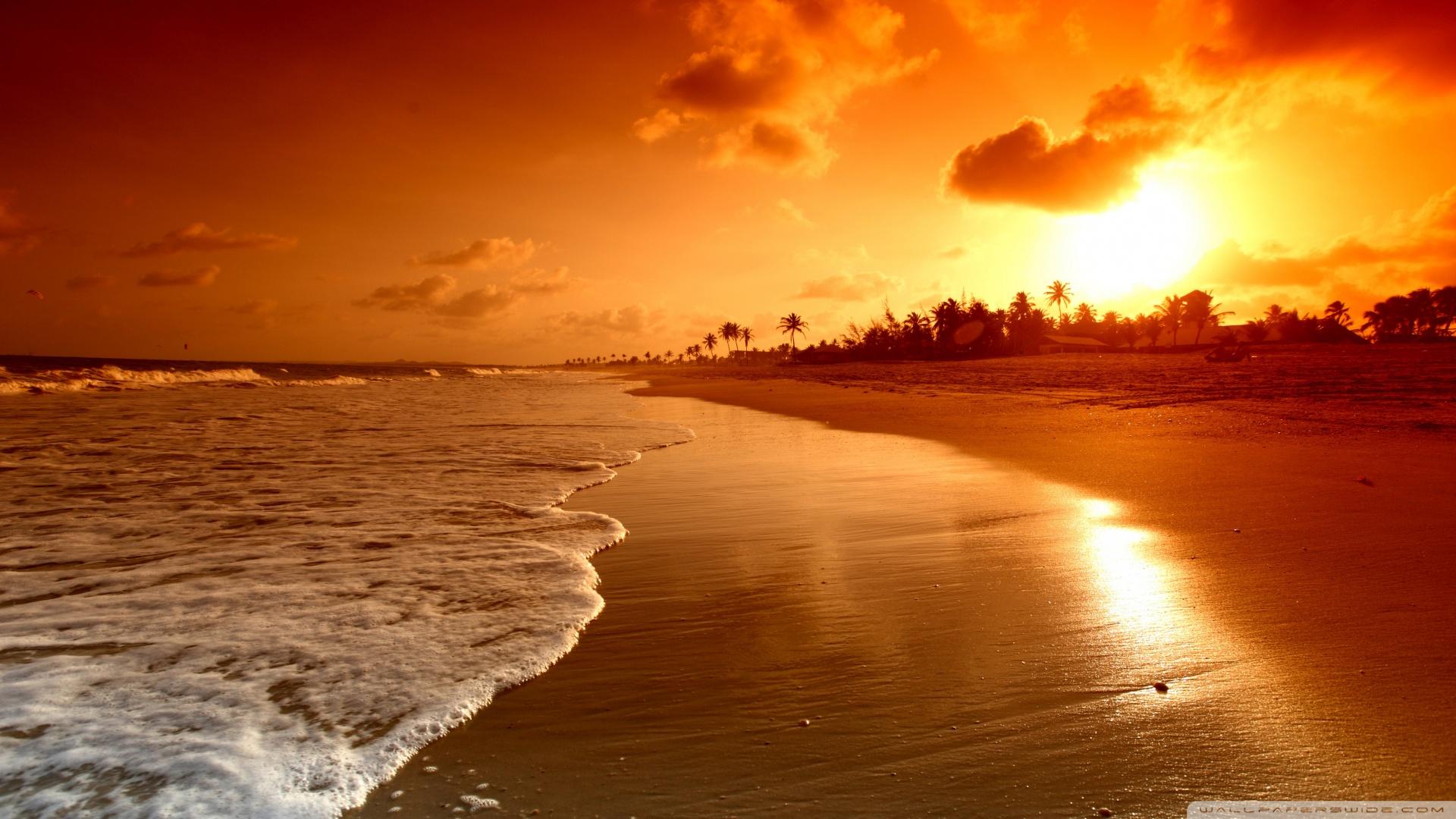 Beach Sunrise ❤ 4K HD Desktop Wallpaper for 4K Ultra HD TV • Wide ...