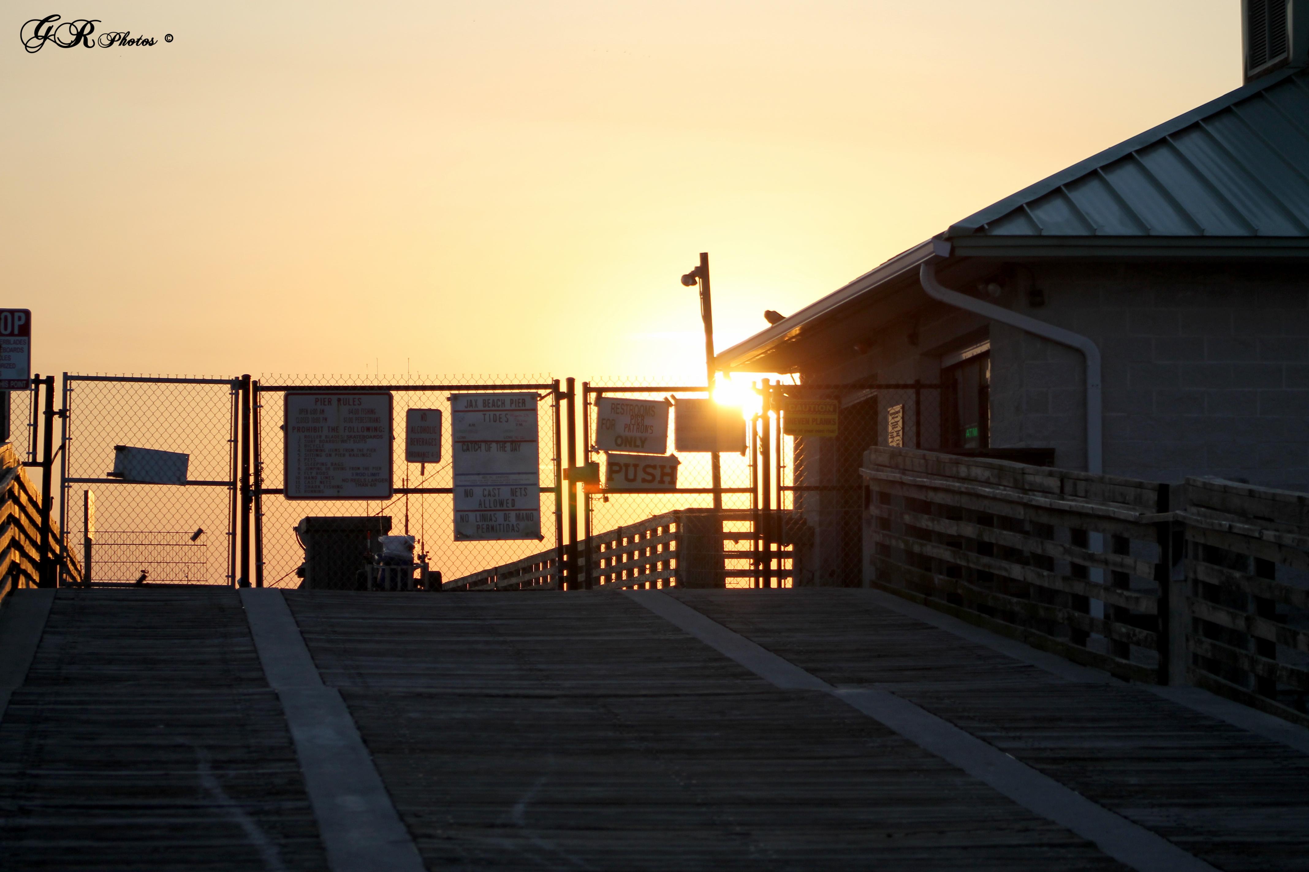 Sunrise, Gate, Steps, HQ Photo