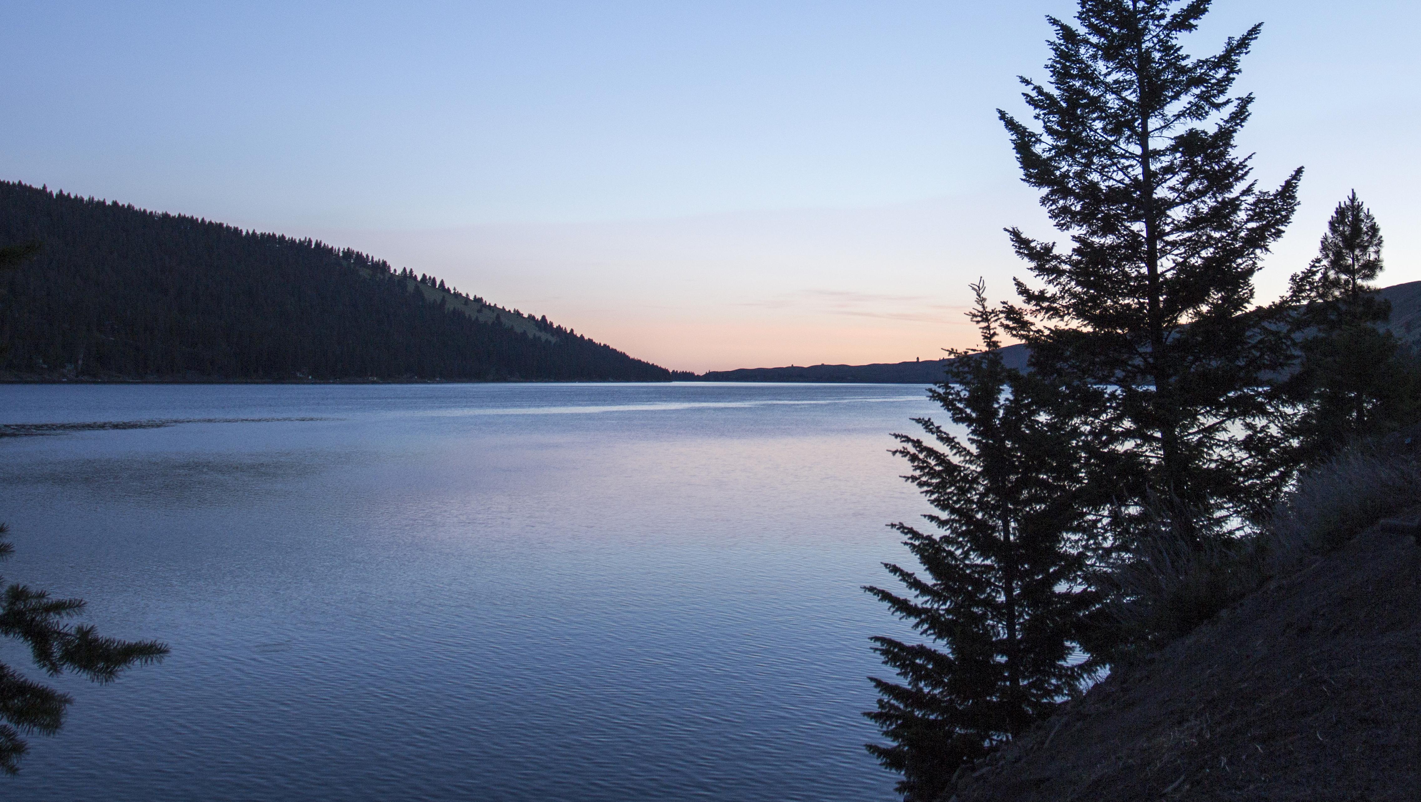 Sunrise at Wallowa Lake, Oregon, Blue, Sea, Water, Wallowa, HQ Photo
