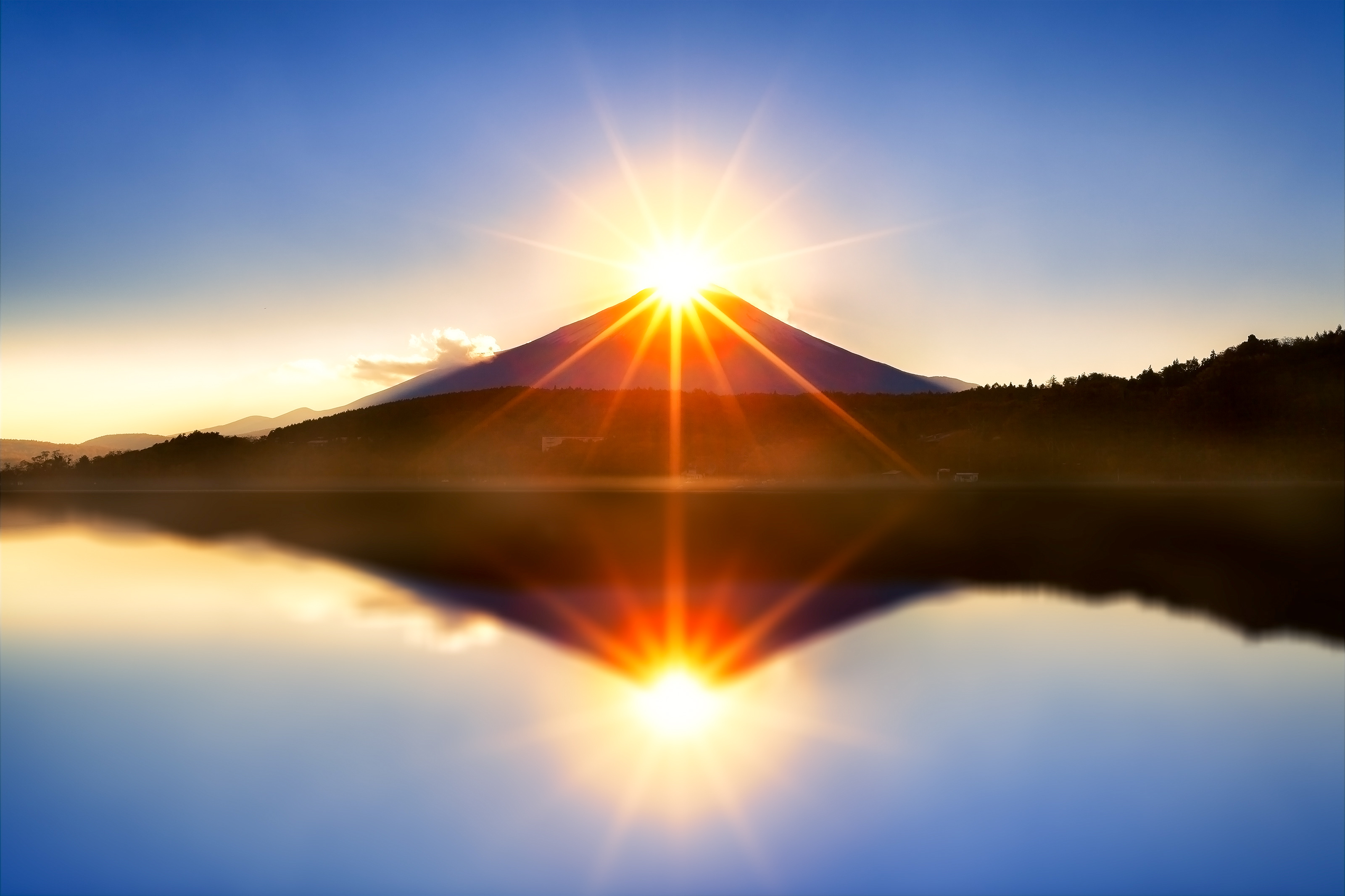 Sunrise in japan photo