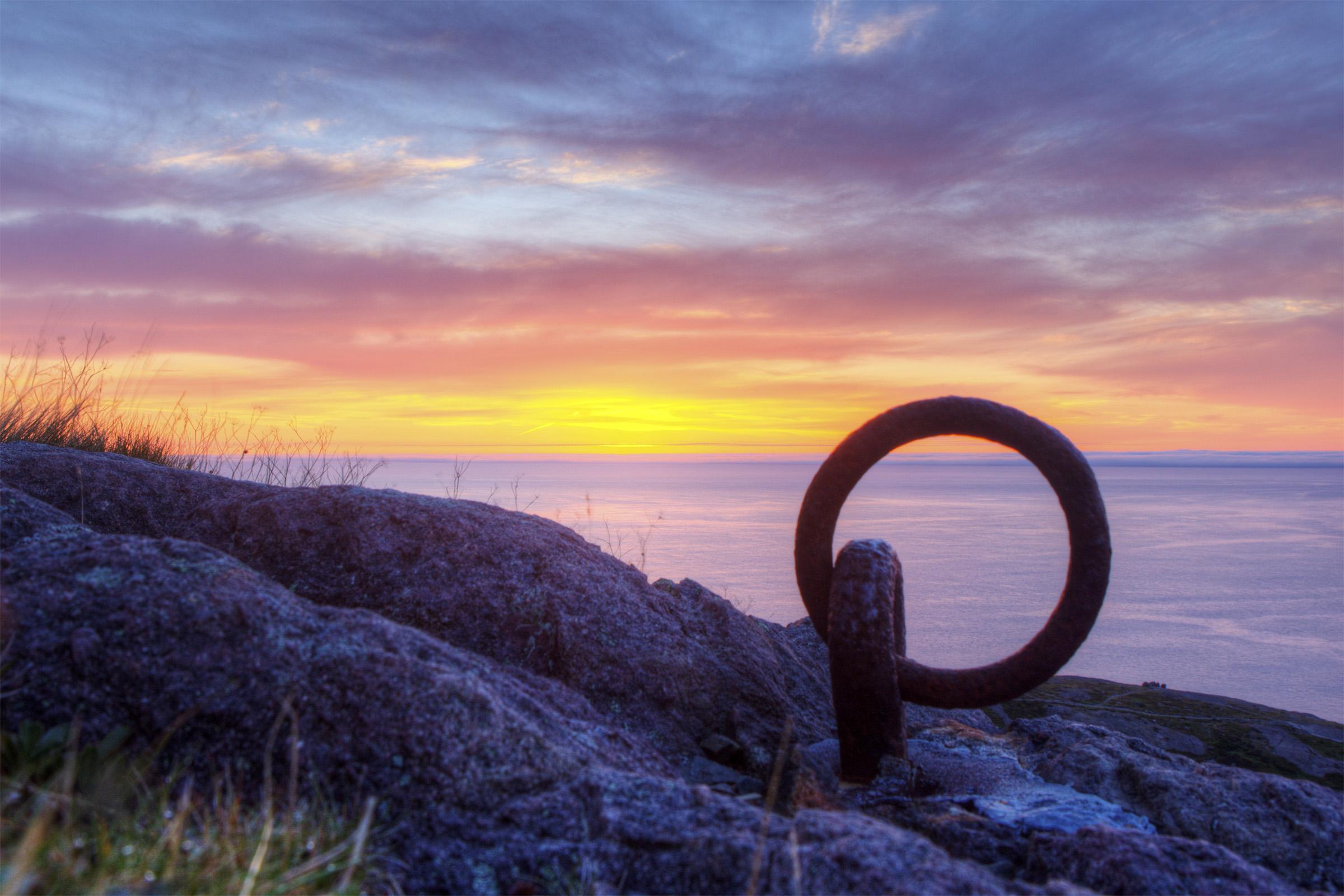 Sunrise in the atlantic photo