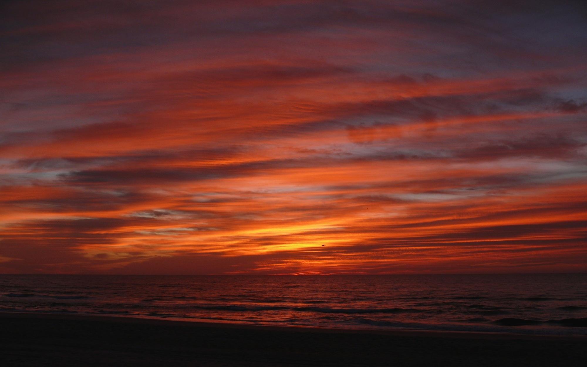 Sunrise on the ocean photo