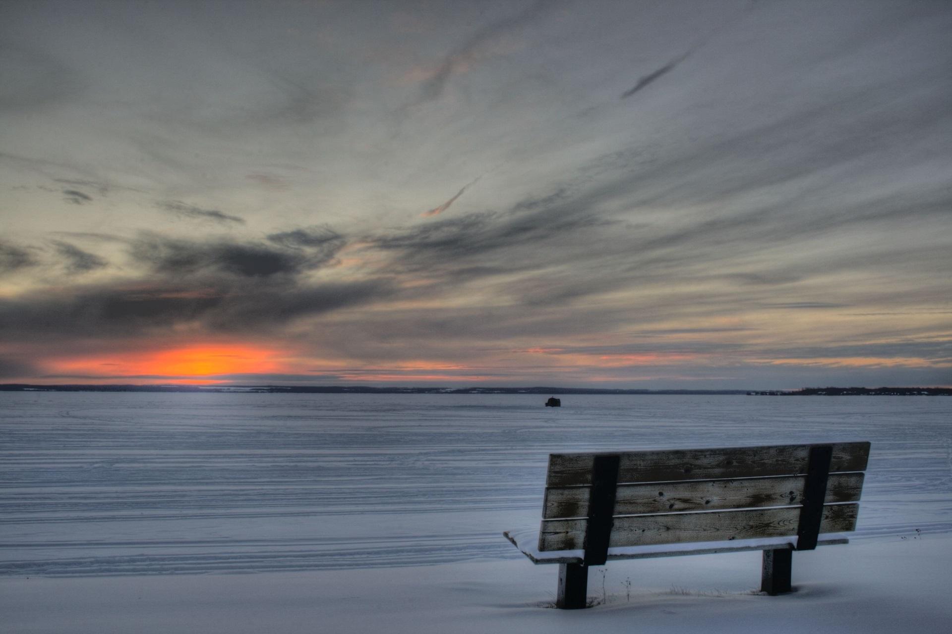 Sunrise on the shore photo