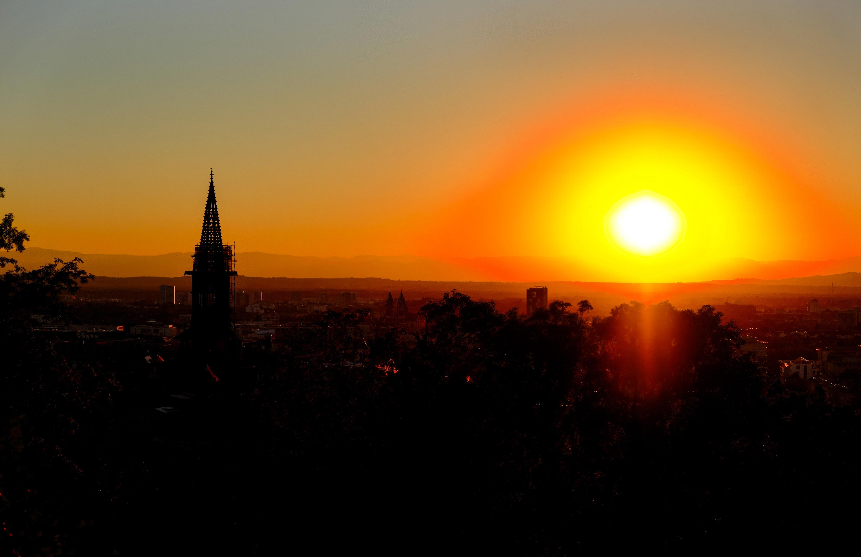 Sunrise on village photo