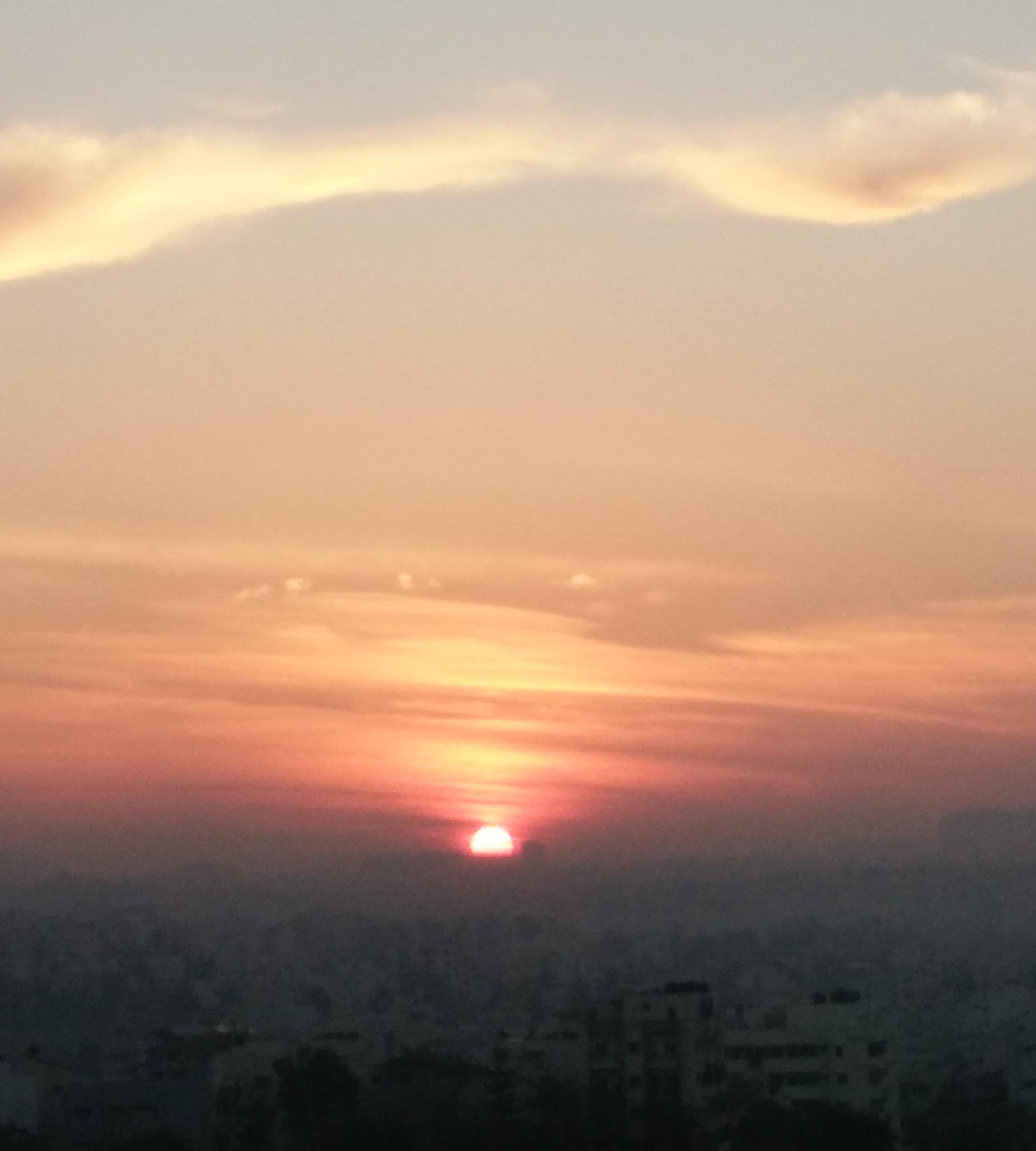 Sunrise over the city. photo