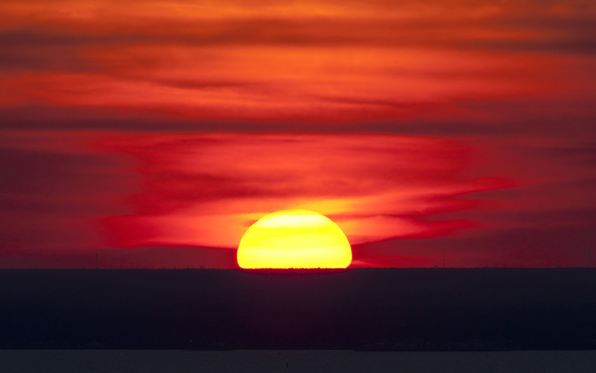 Climate Change: Climate Resource Center - Vivid sunset