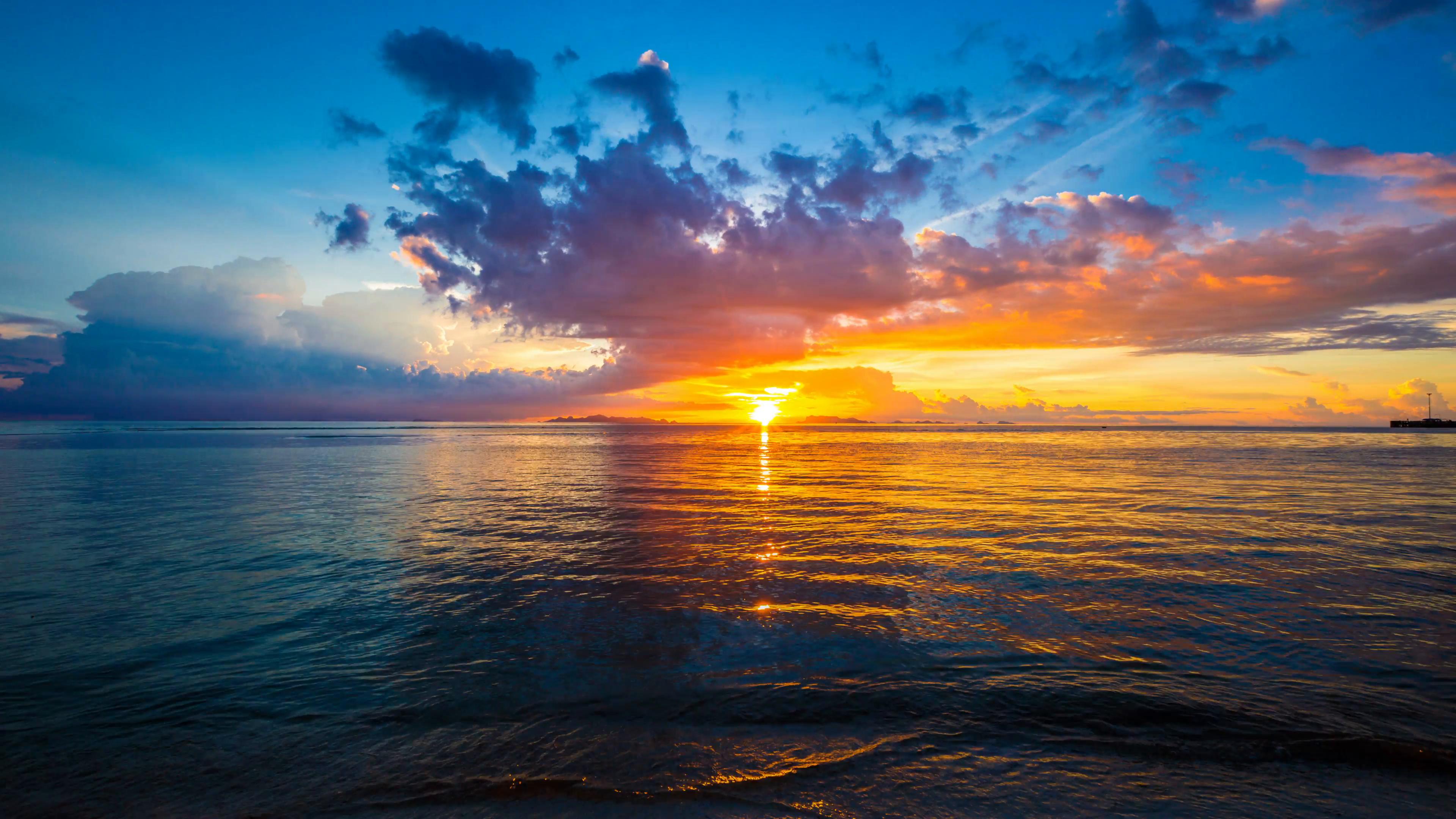 Free photo: Beautiful sunset - Sky, Sea, Skies - Free ...